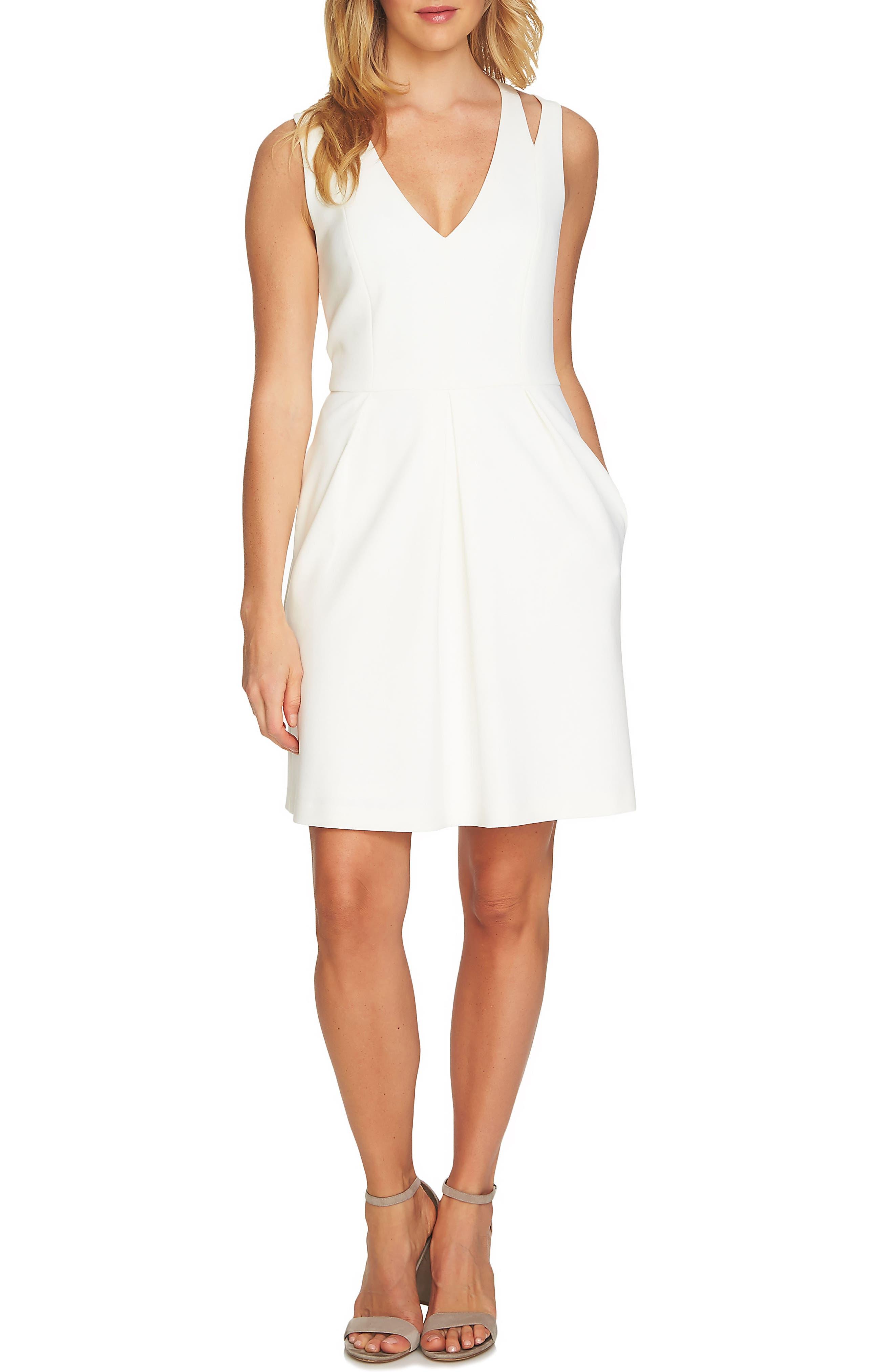 Split Sleeveless A-Line Dress,                             Main thumbnail 2, color,