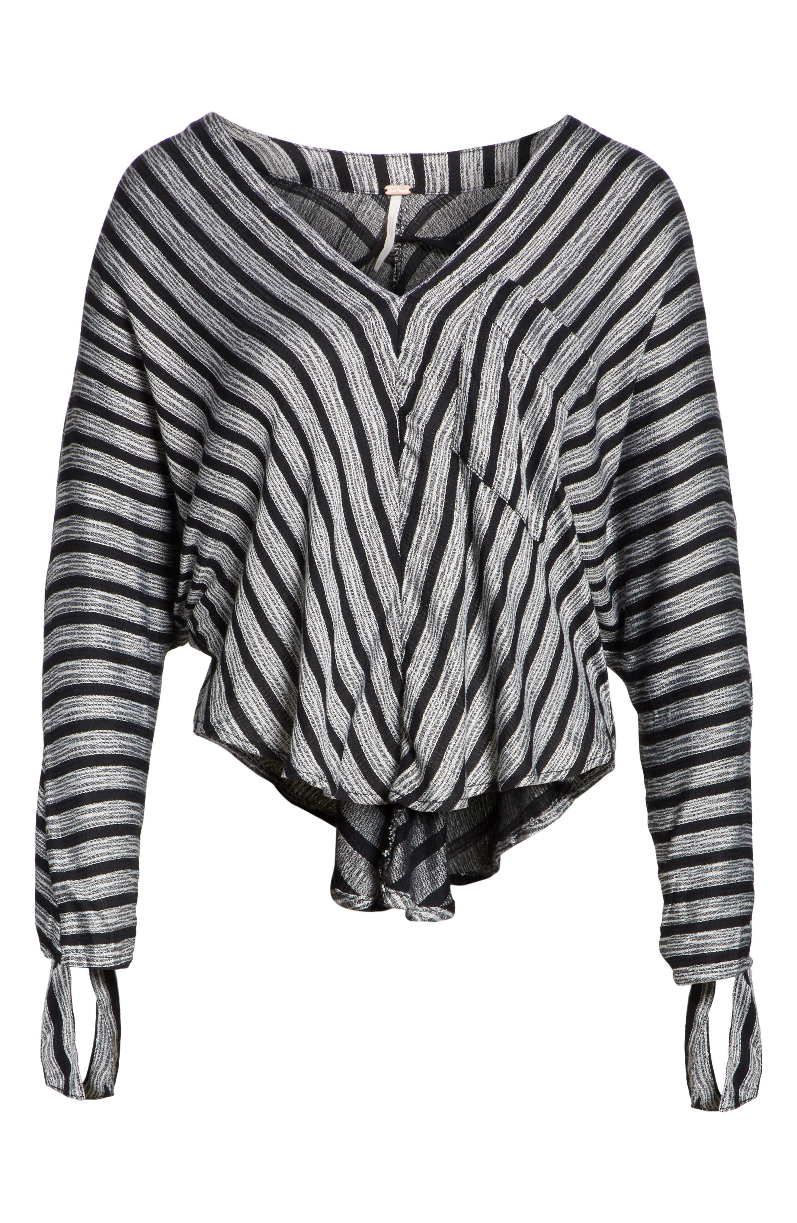 Morning Stripe Dolman Top,                             Alternate thumbnail 6, color,                             019