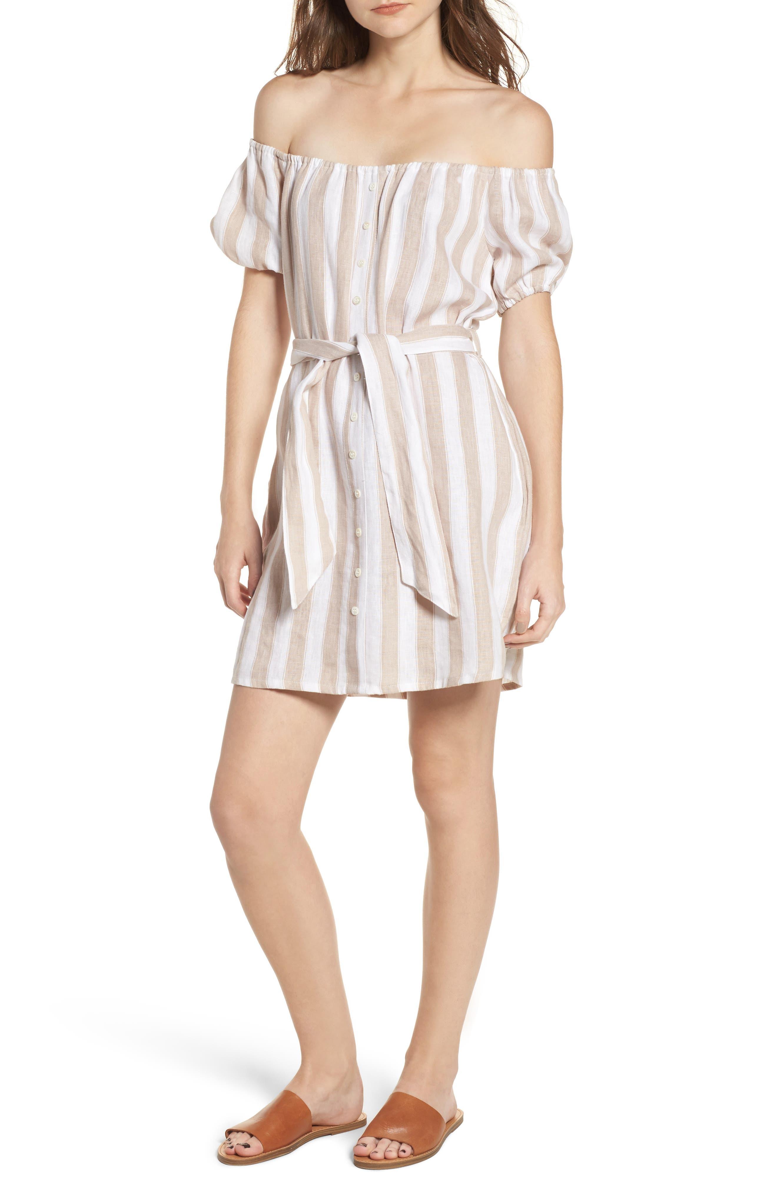Savoy Off the Shoulder Dress,                         Main,                         color, 100