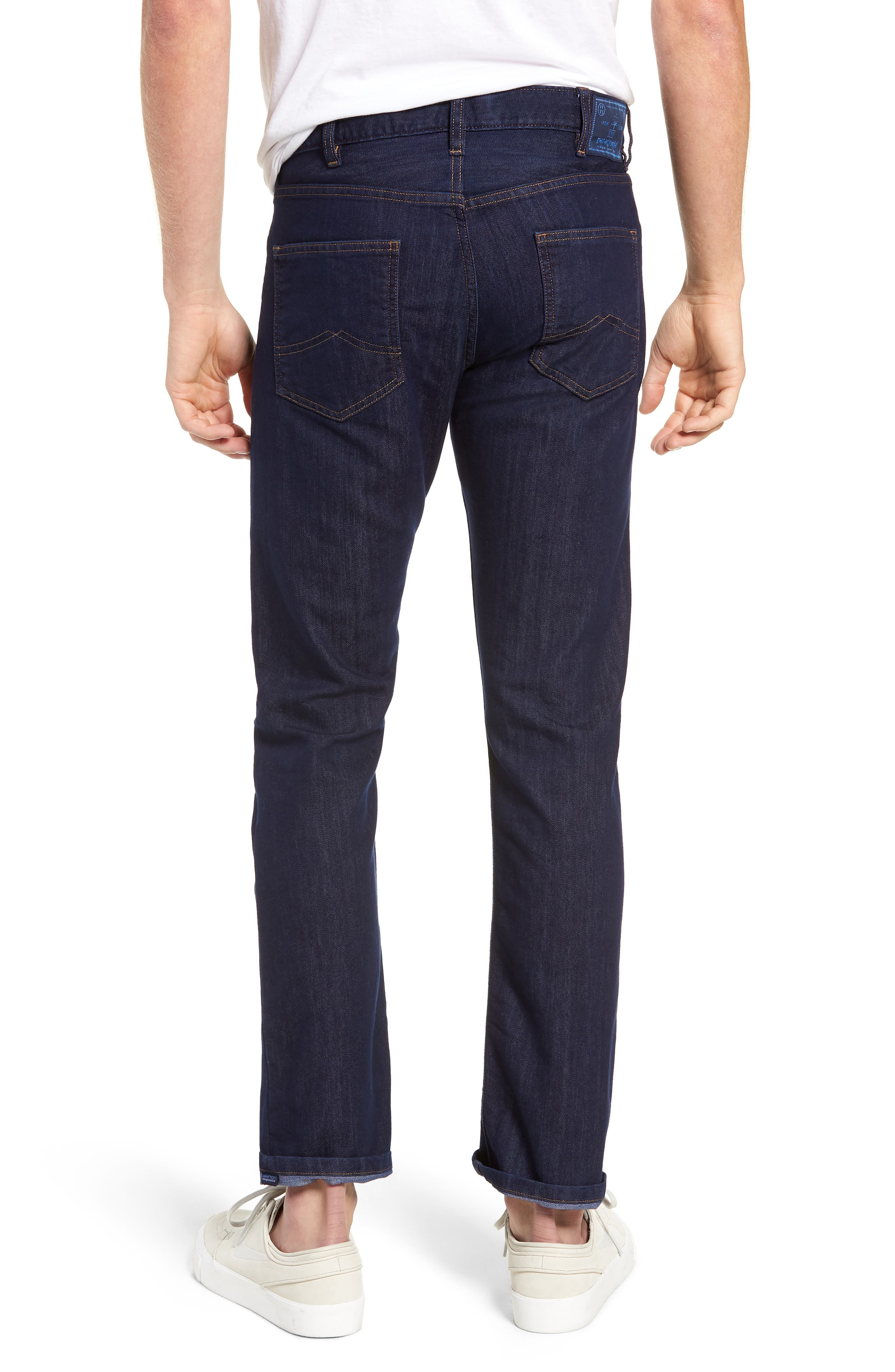 Straight Leg Performance Jeans,                             Alternate thumbnail 2, color,                             DARK DENIM