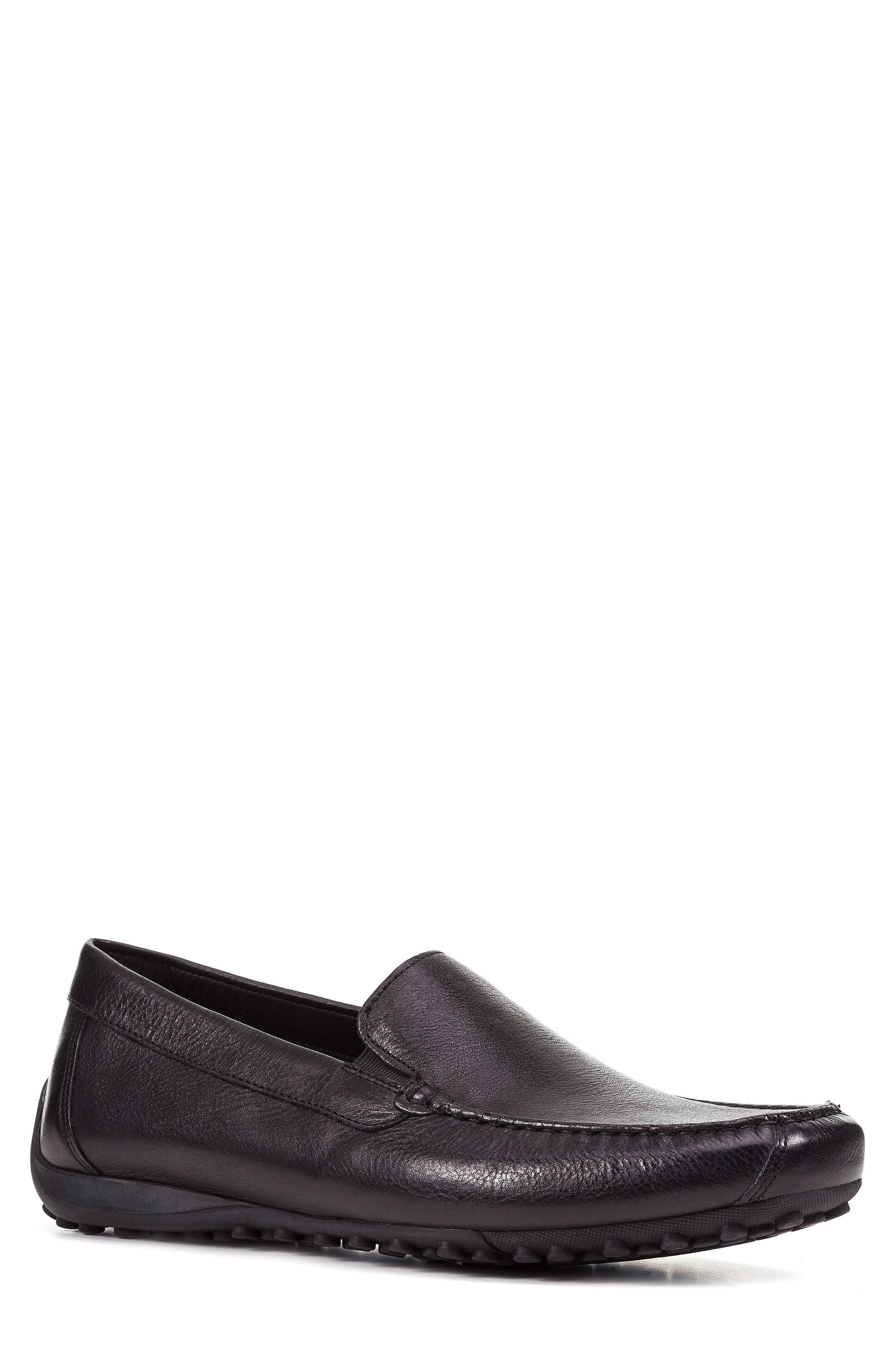 Snake 2Fit Driving Shoe,                         Main,                         color, BLACK LEATHER