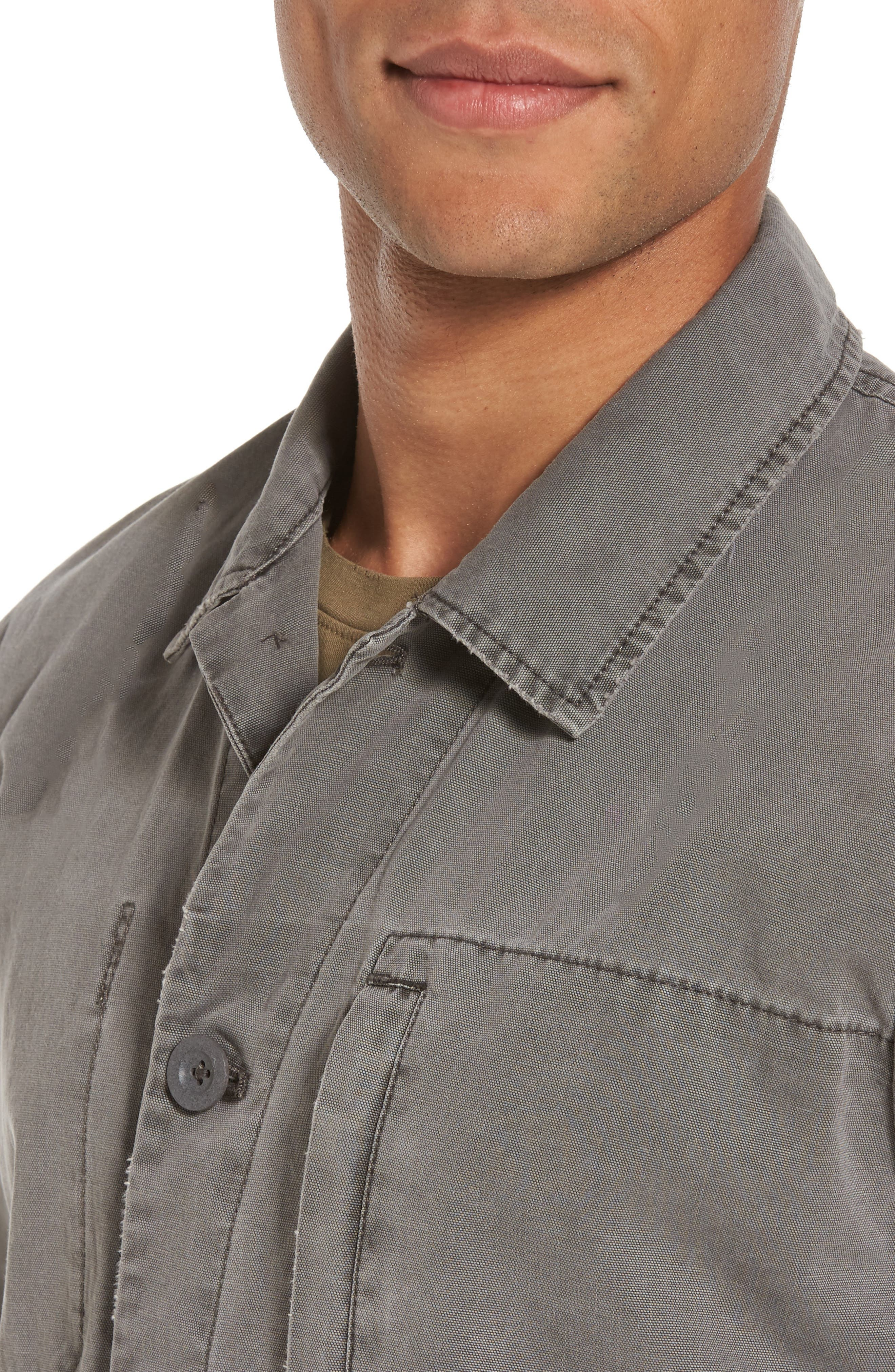 Marlon Canvas Shirt Jacket,                             Alternate thumbnail 4, color,                             035