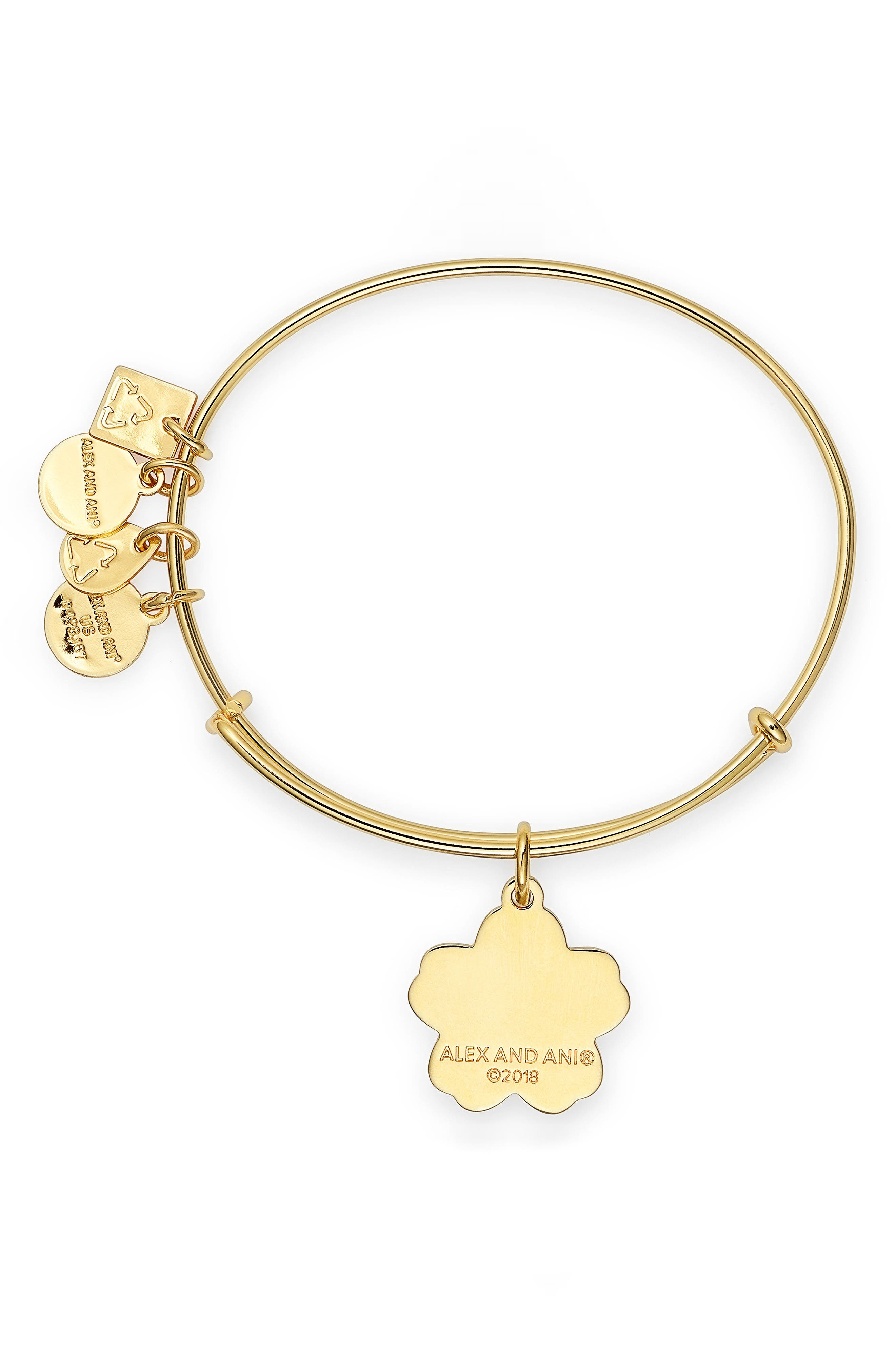 Charity by Design Forget Me Not Charm Bracelet,                             Alternate thumbnail 2, color,                             GOLD
