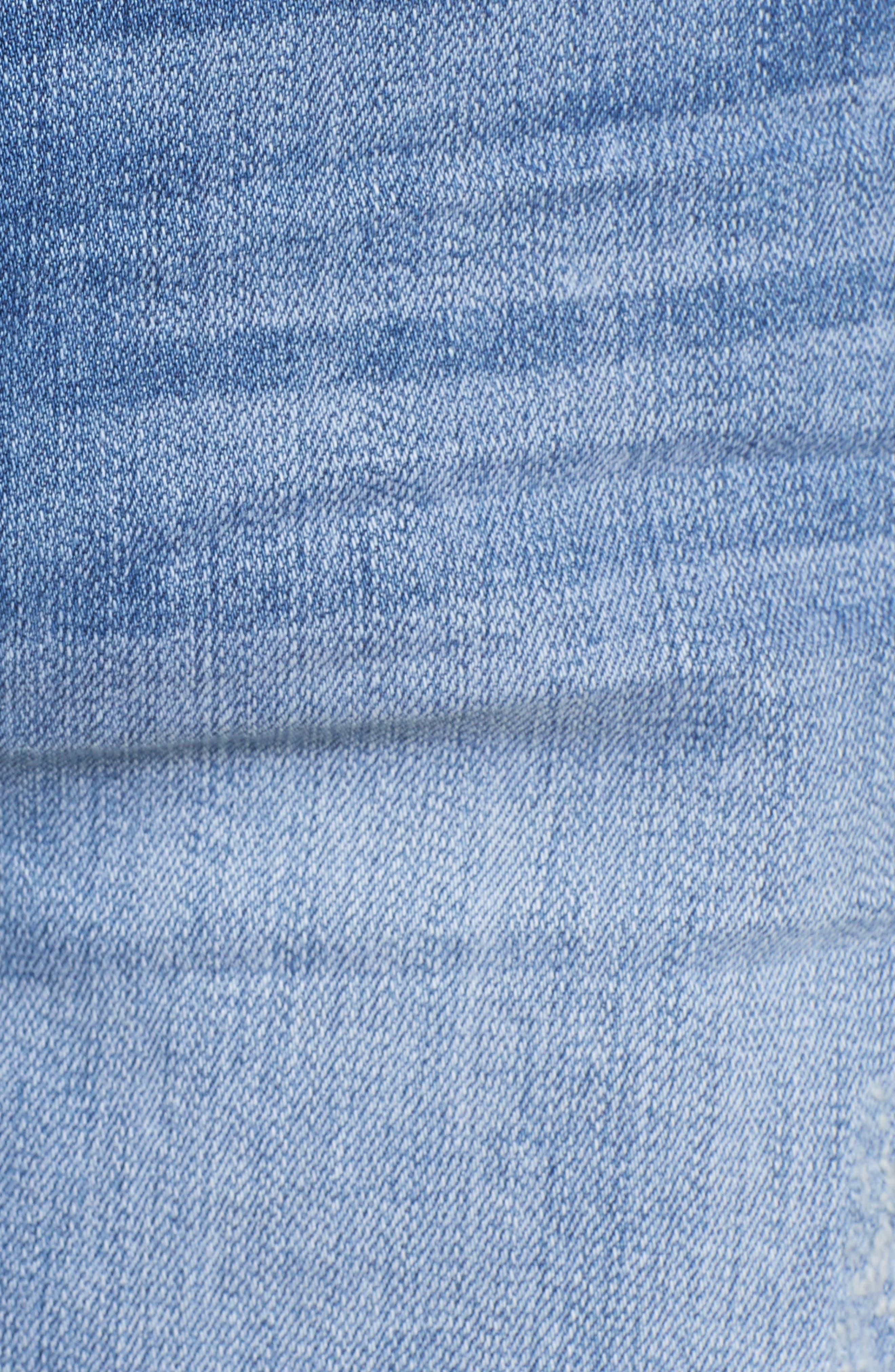 Cuffed Boyfriend Denim Shorts,                             Alternate thumbnail 6, color,                             420