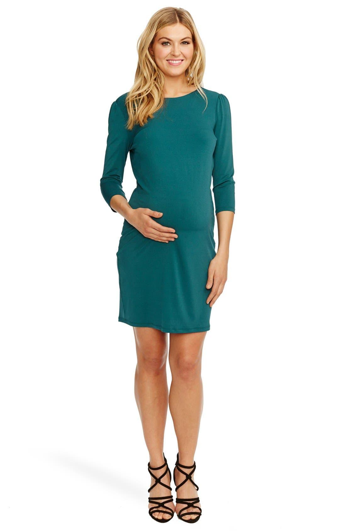 'Audra' Maternity Dress,                             Alternate thumbnail 3, color,                             401