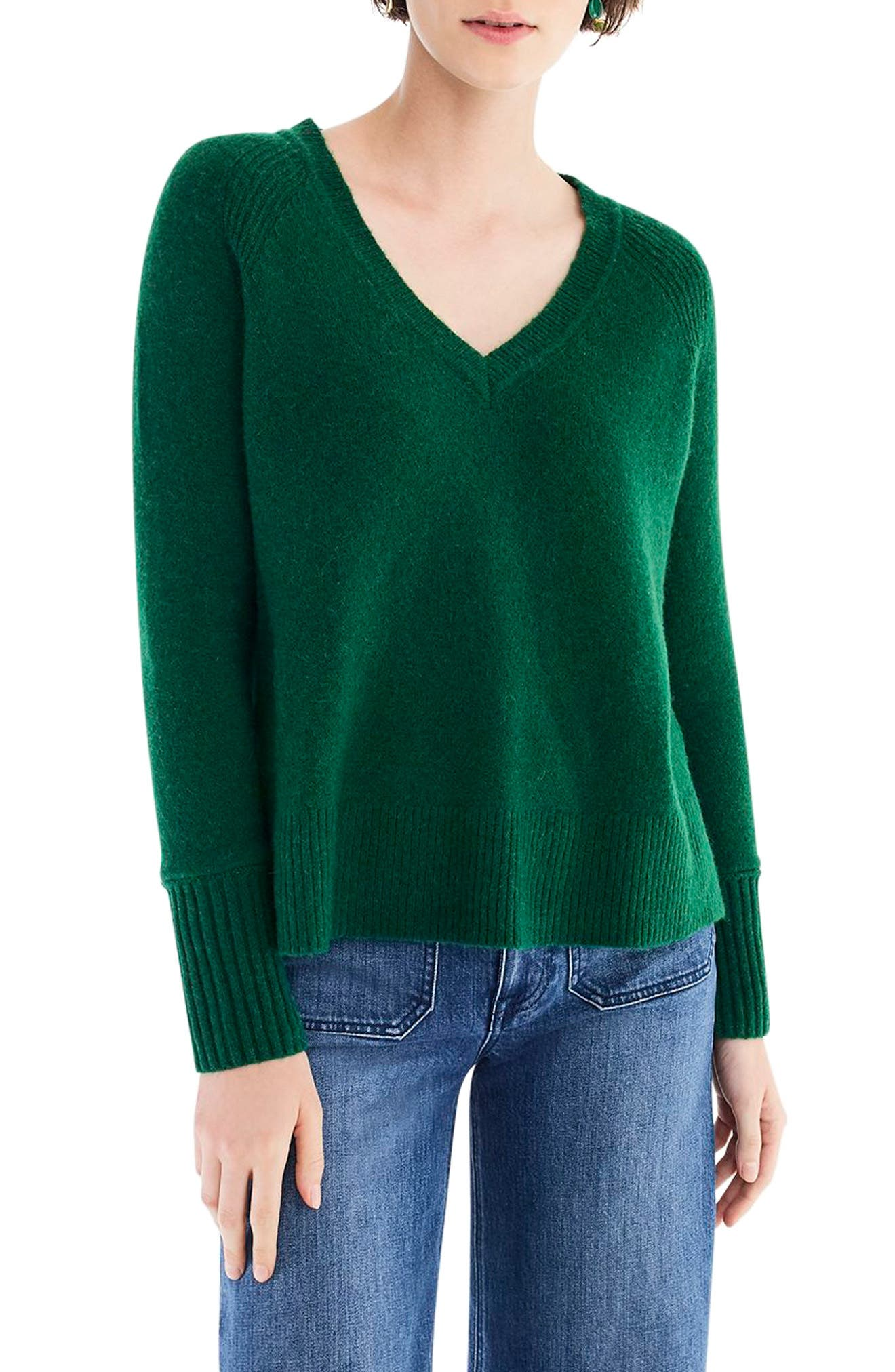 Supersoft Yarn V-Neck Sweater,                             Main thumbnail 6, color,