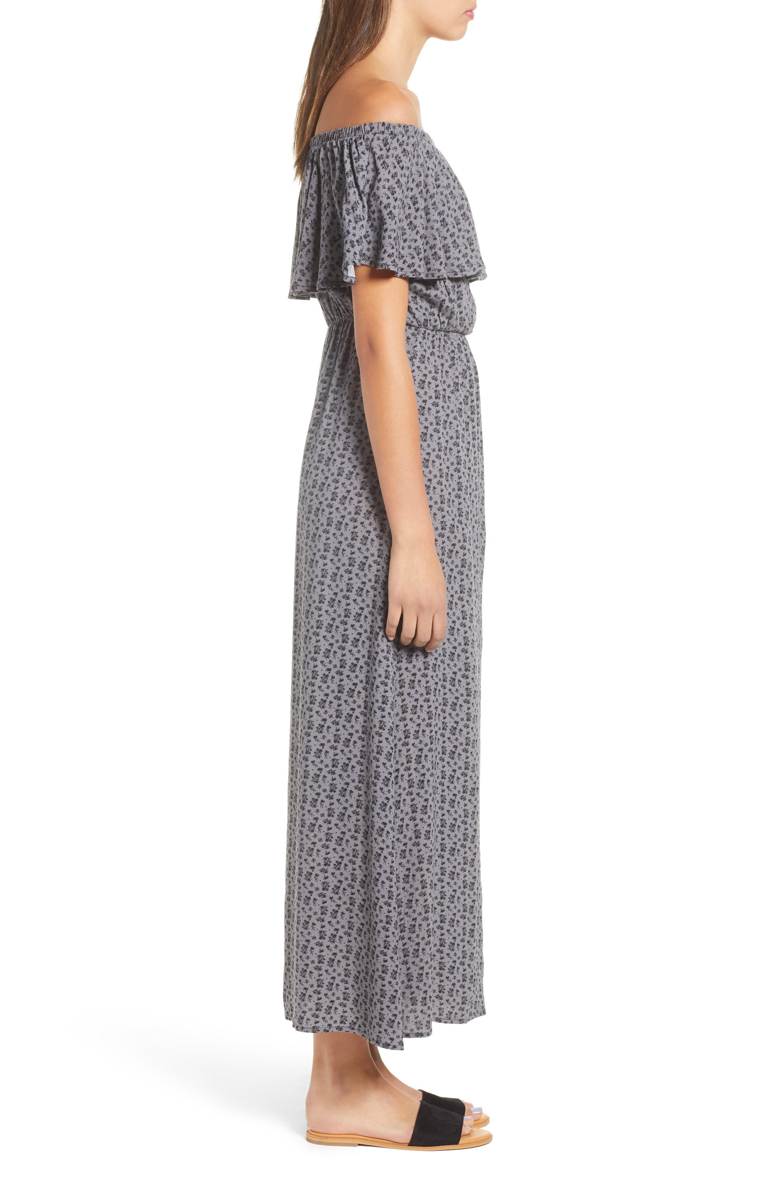 LIRA CLOTHING,                             Marissa Floral Print Off the Shoulder Dress,                             Alternate thumbnail 4, color,                             250