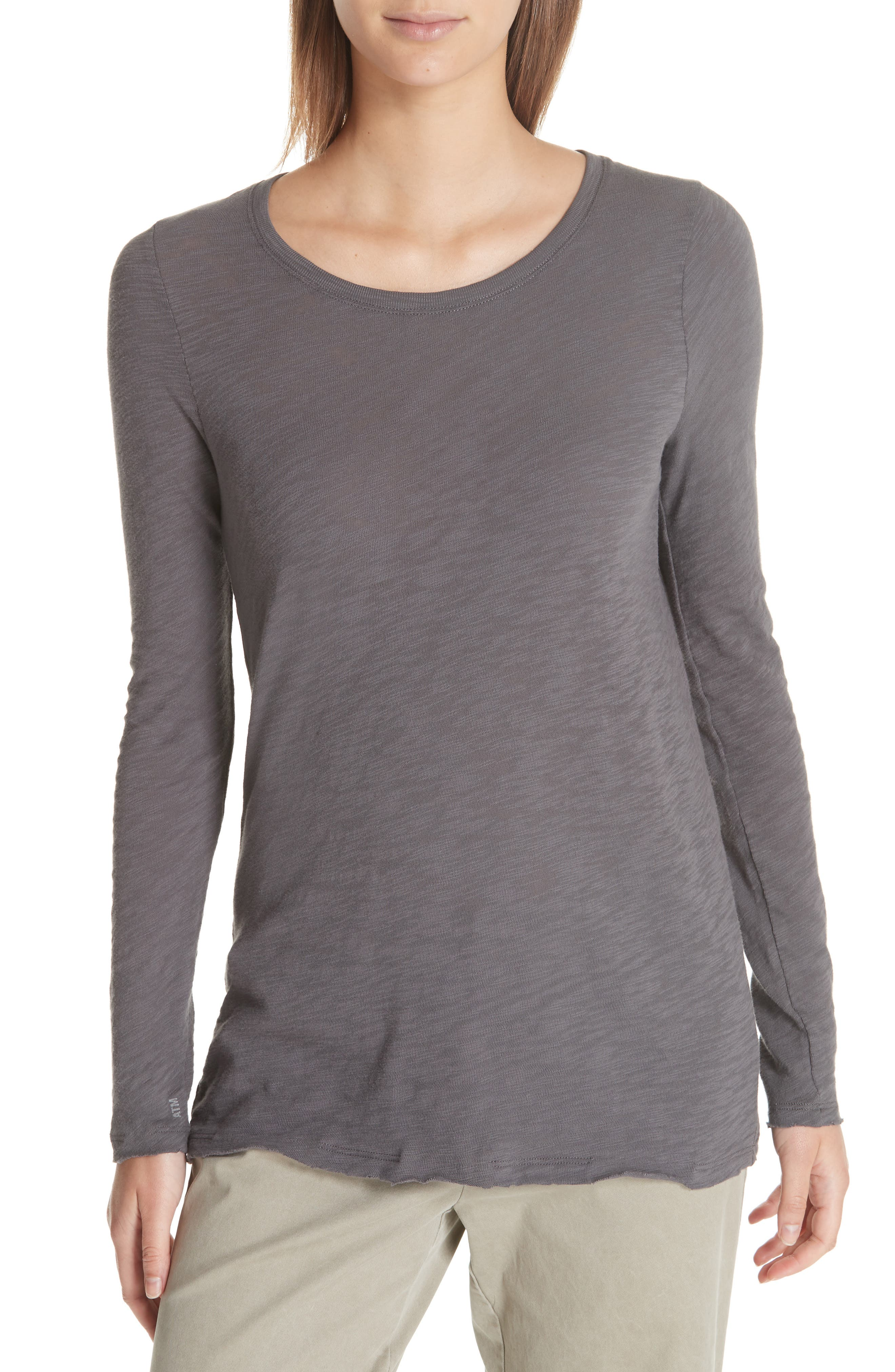 Destroyed Wash Tee,                         Main,                         color, CHARCOAL