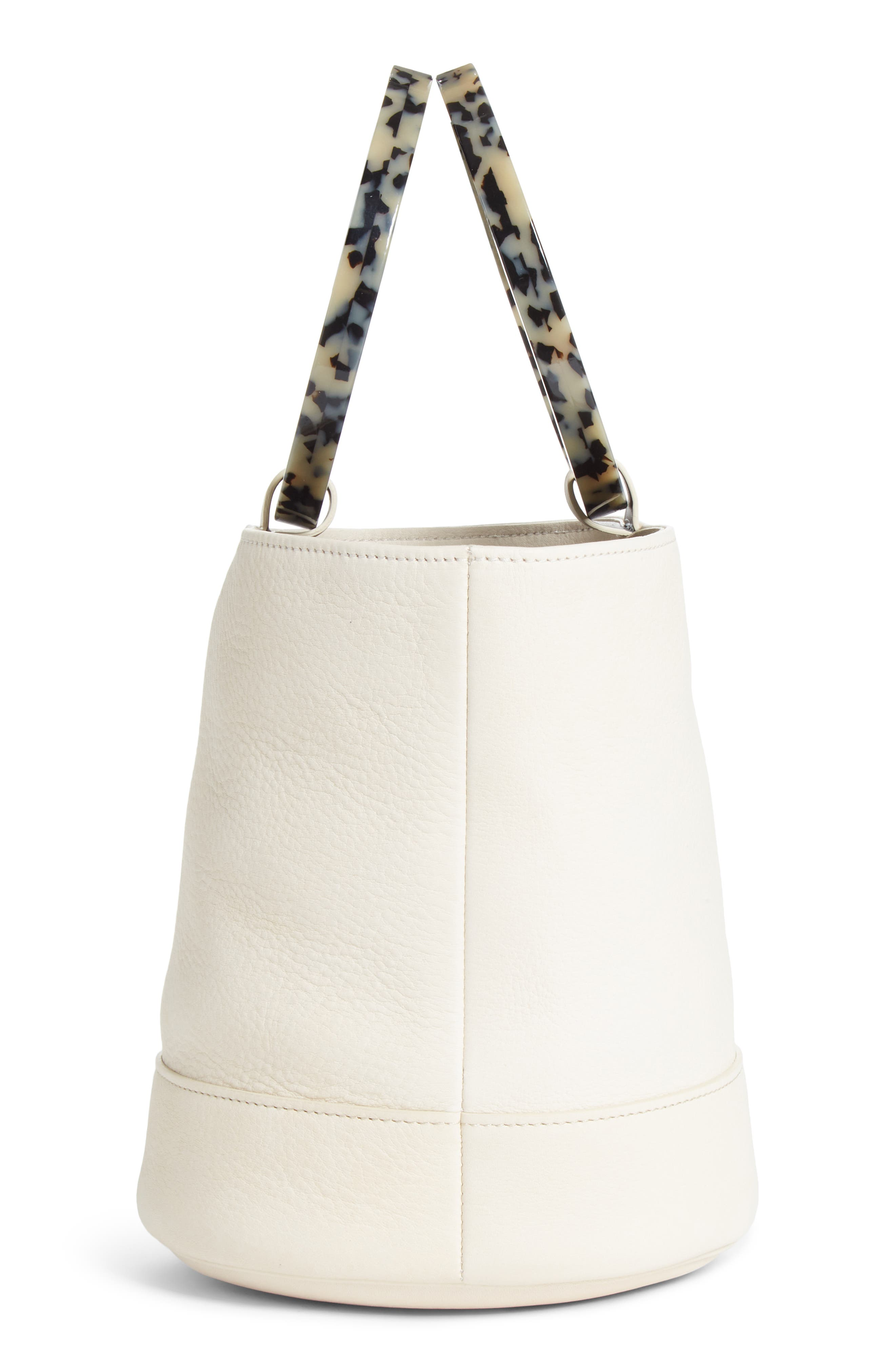 Bonsai 20 Pebbled Leather Bucket Bag,                             Alternate thumbnail 5, color,                             100