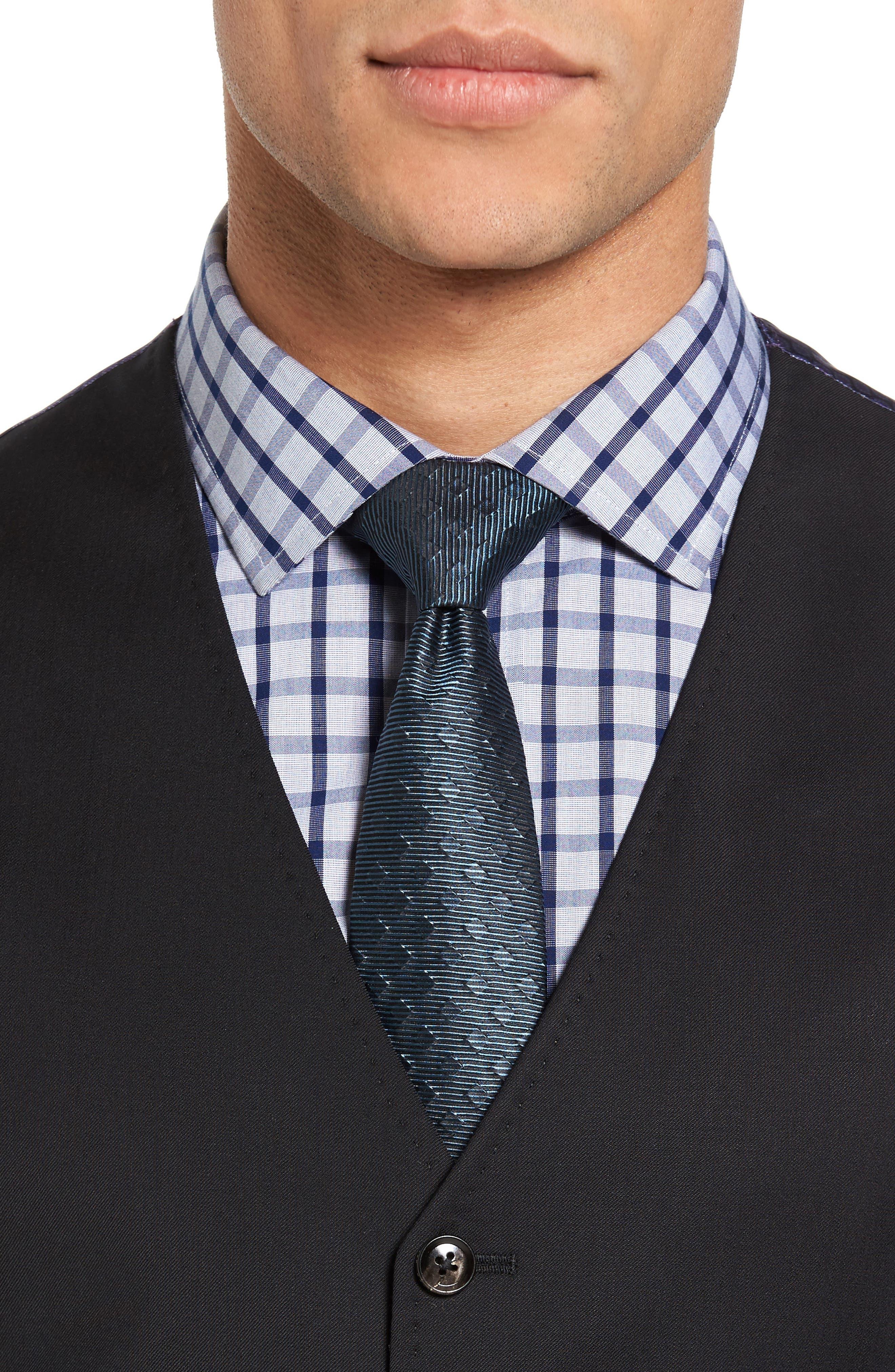 Jones Trim Fit Wool Vest,                             Alternate thumbnail 4, color,                             001