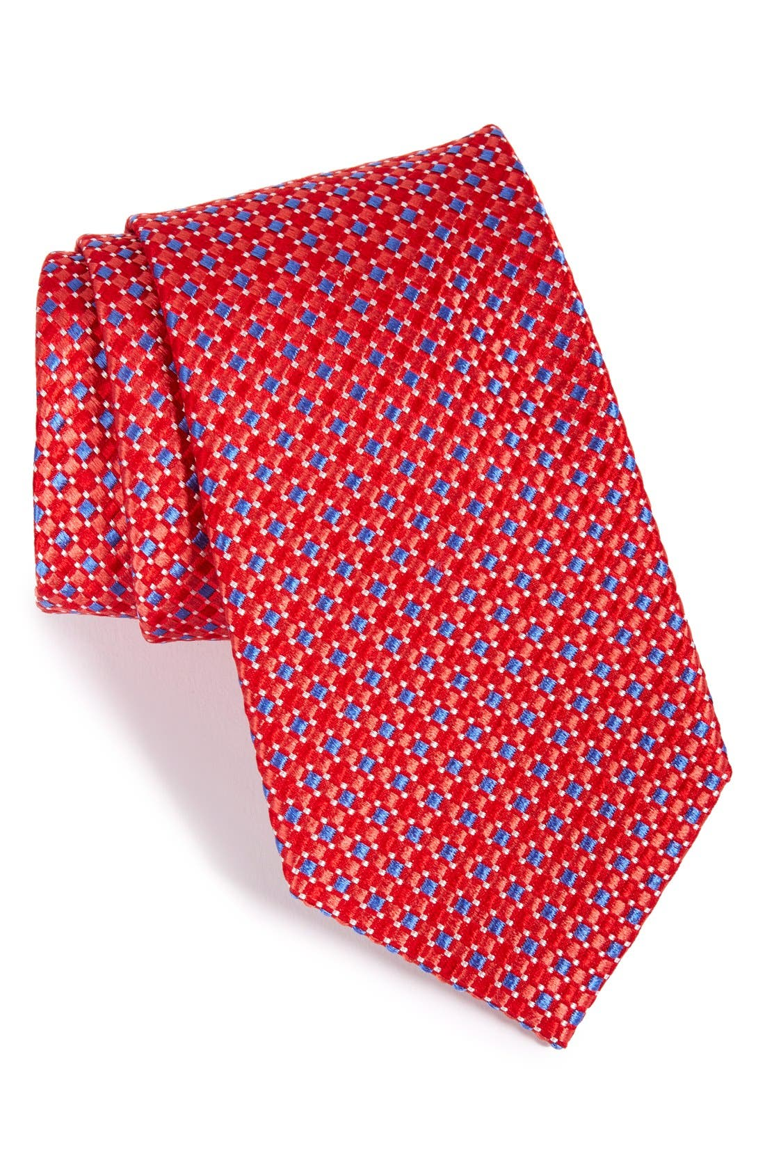 Geo Pattern Silk Tie,                             Main thumbnail 6, color,