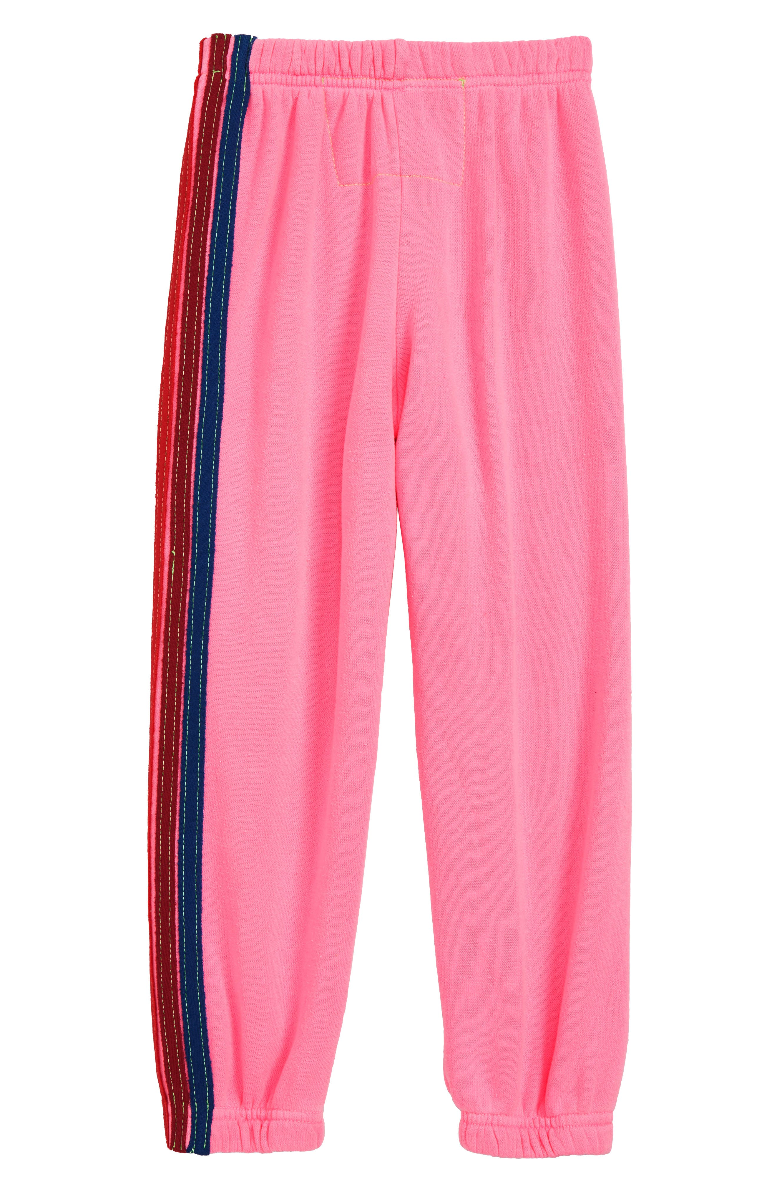 5-Stripe Sweatpants,                             Alternate thumbnail 2, color,                             NEON PINK