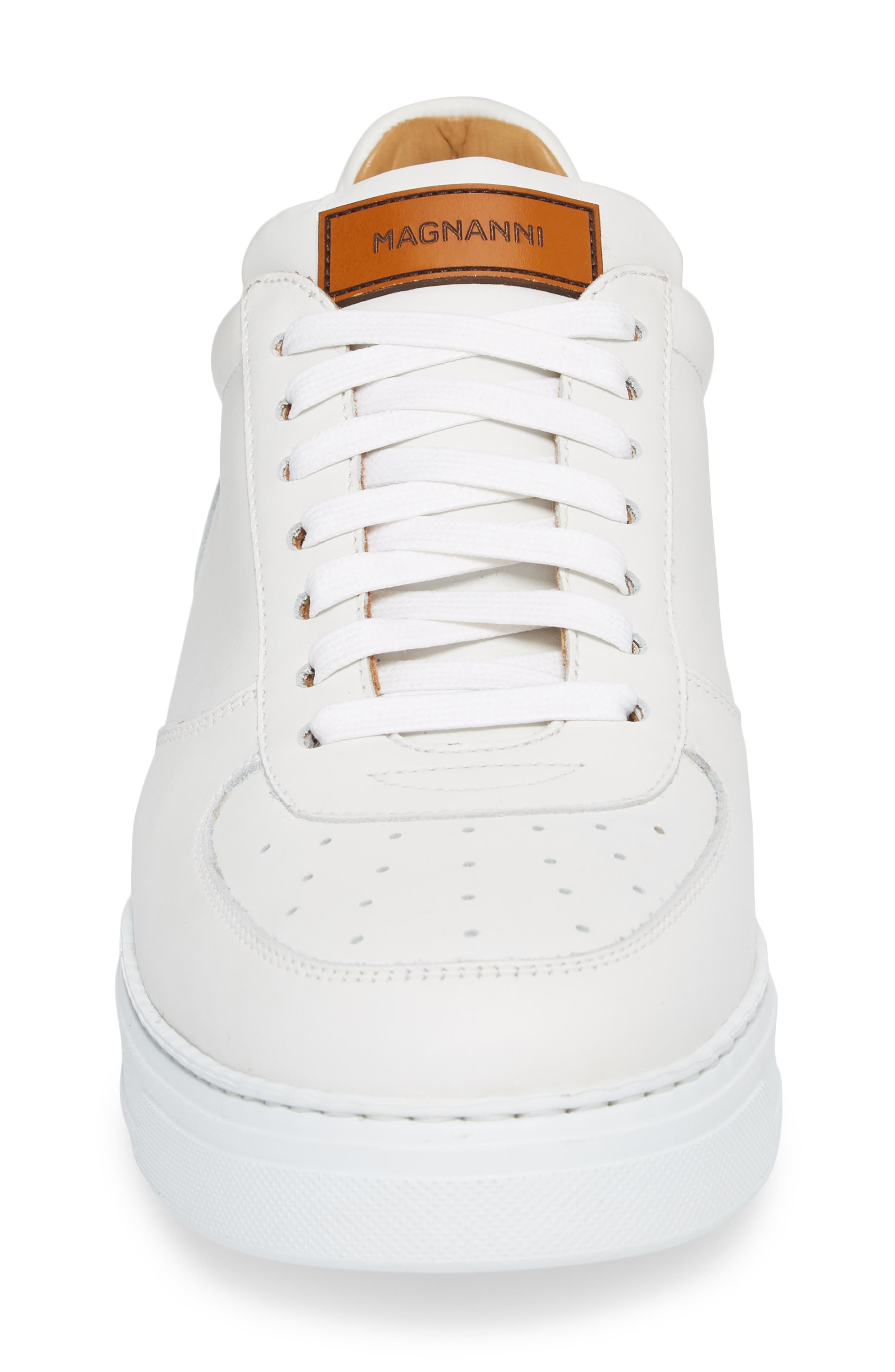 Vada Lo Lace Up Sneaker,                             Alternate thumbnail 4, color,                             WHITE LEATHER