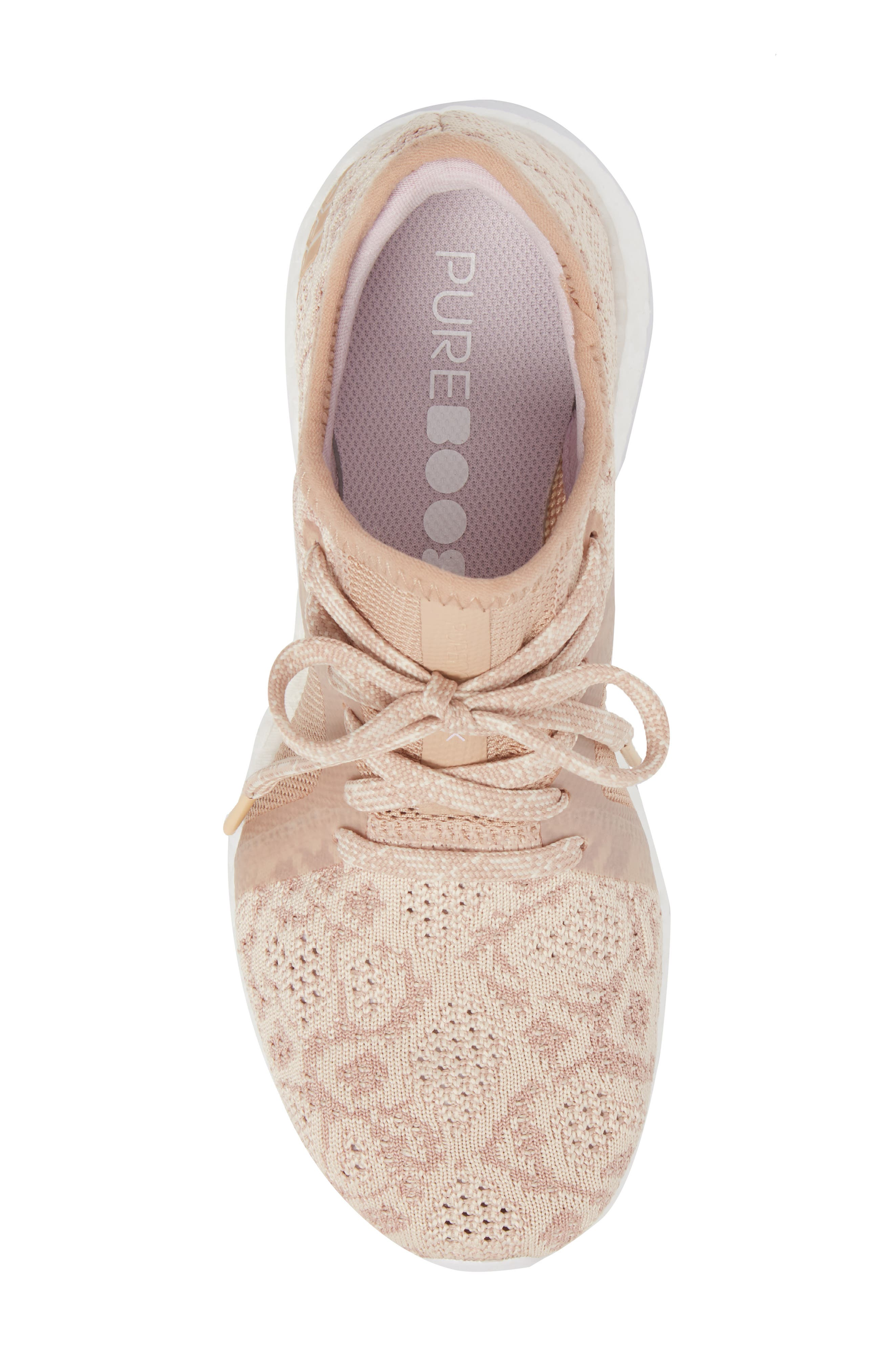 PureBoost X Element Knit Running Shoe,                             Alternate thumbnail 5, color,                             ASH PEARL/ ASH PEARL