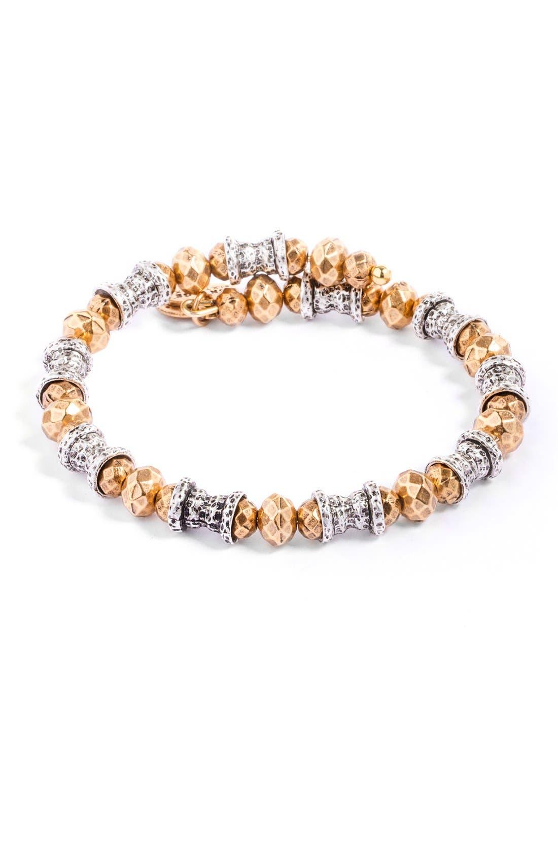 Two Tone Wrap Bracelet,                         Main,                         color, 020