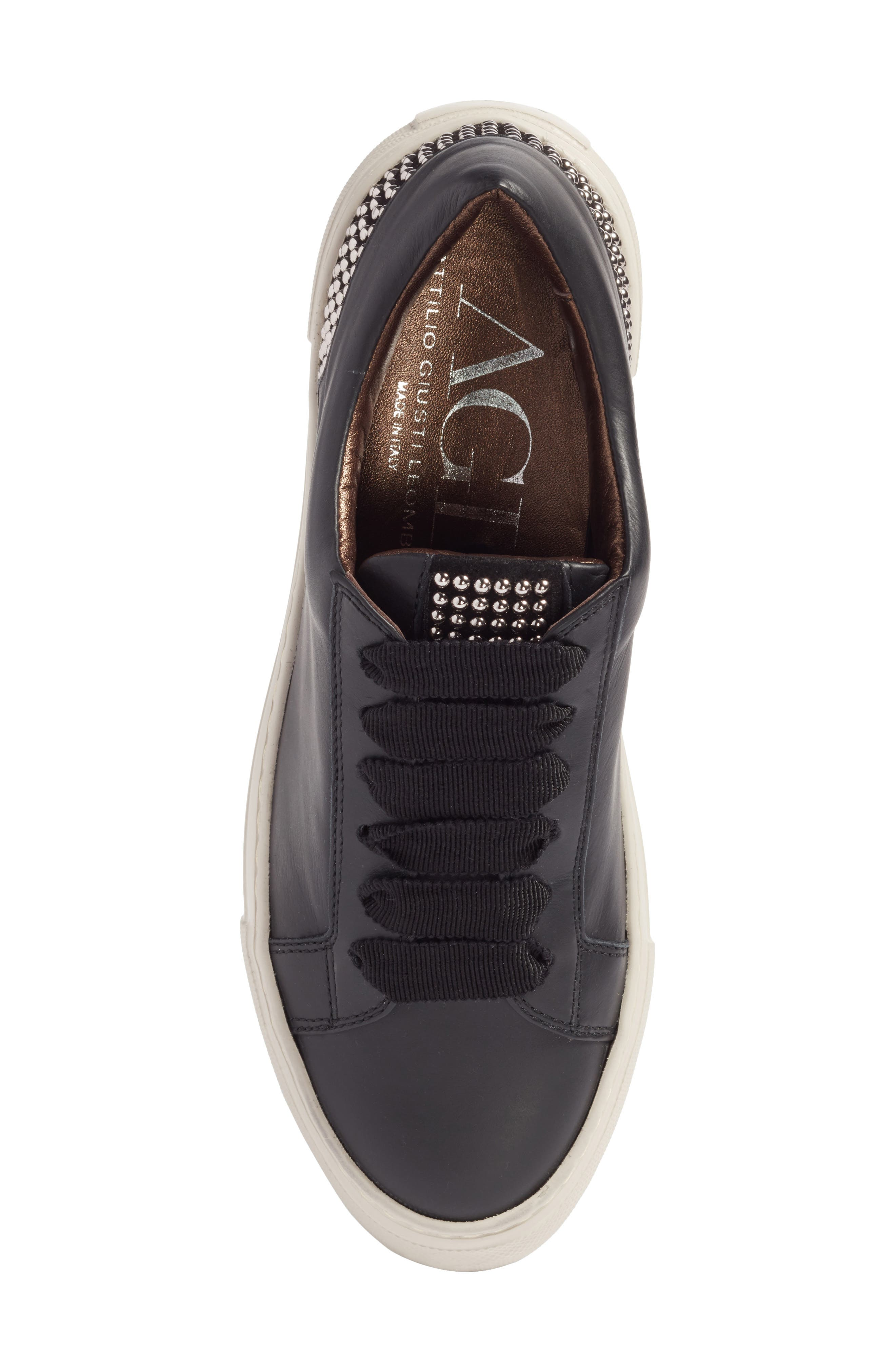 Pearl Sneaker,                             Alternate thumbnail 5, color,                             BLACK