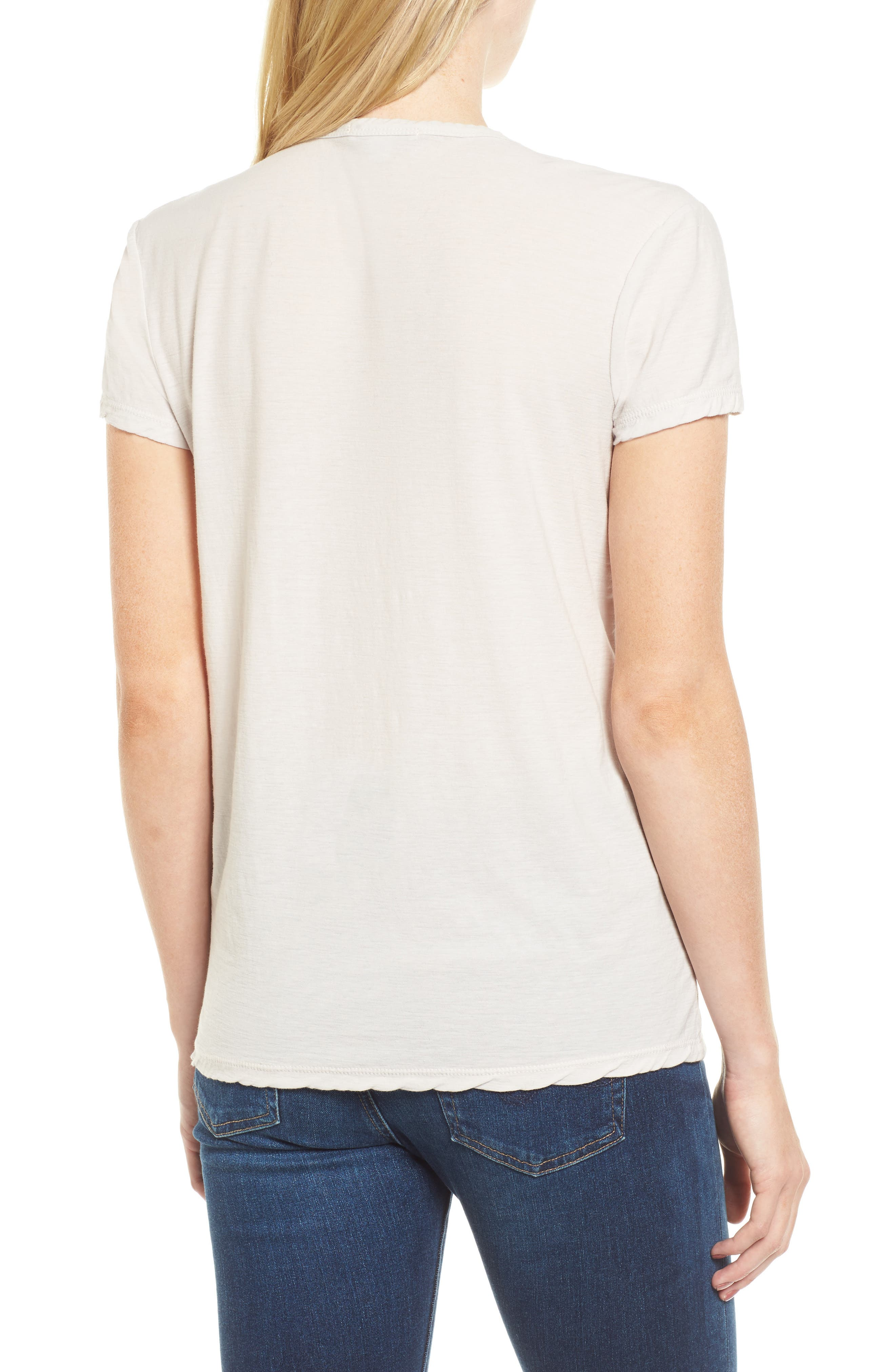 Deep V-Neck Tee,                             Alternate thumbnail 5, color,