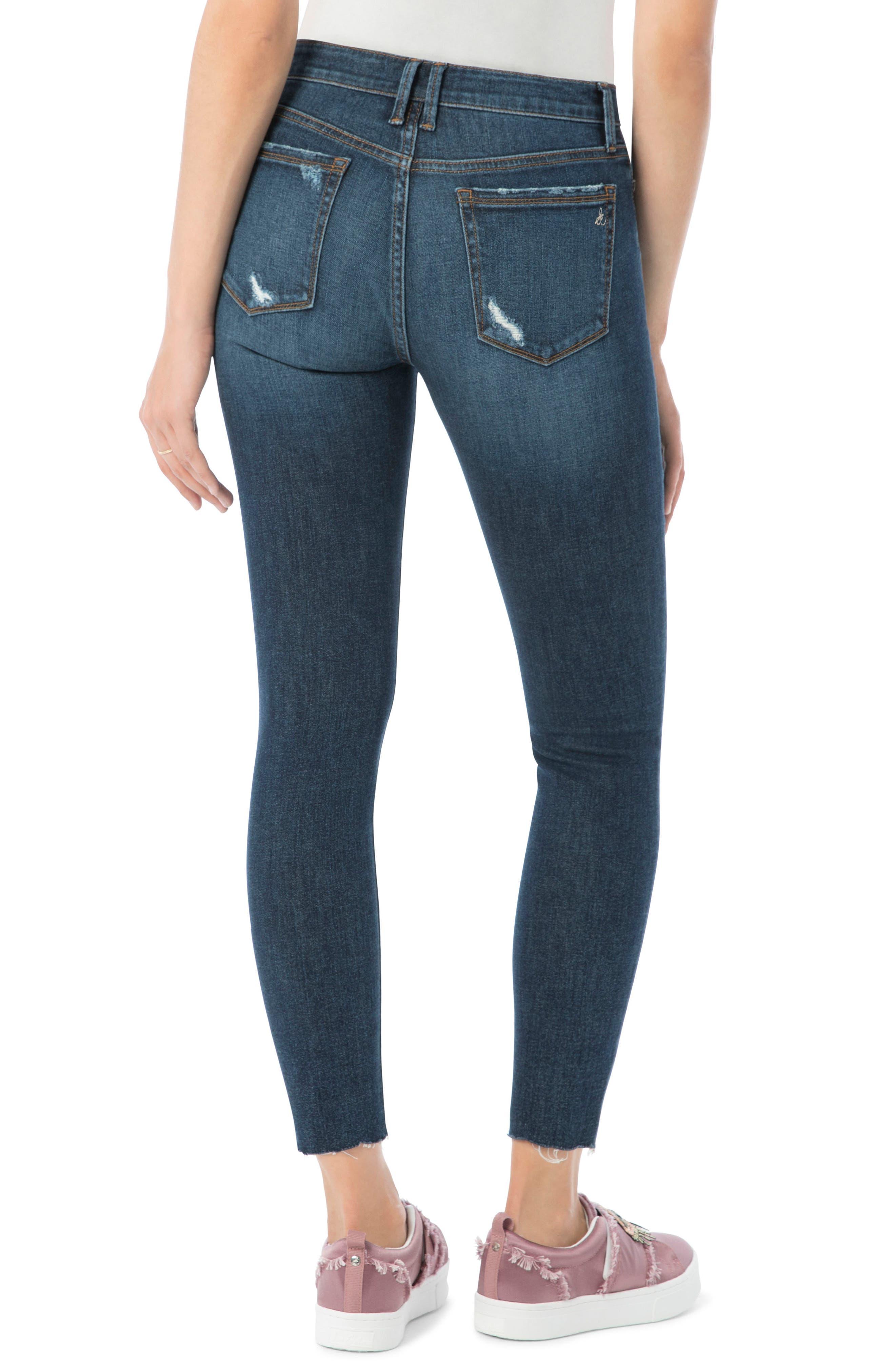Kitten Ripped Skinny Ankle Jeans,                             Alternate thumbnail 2, color,