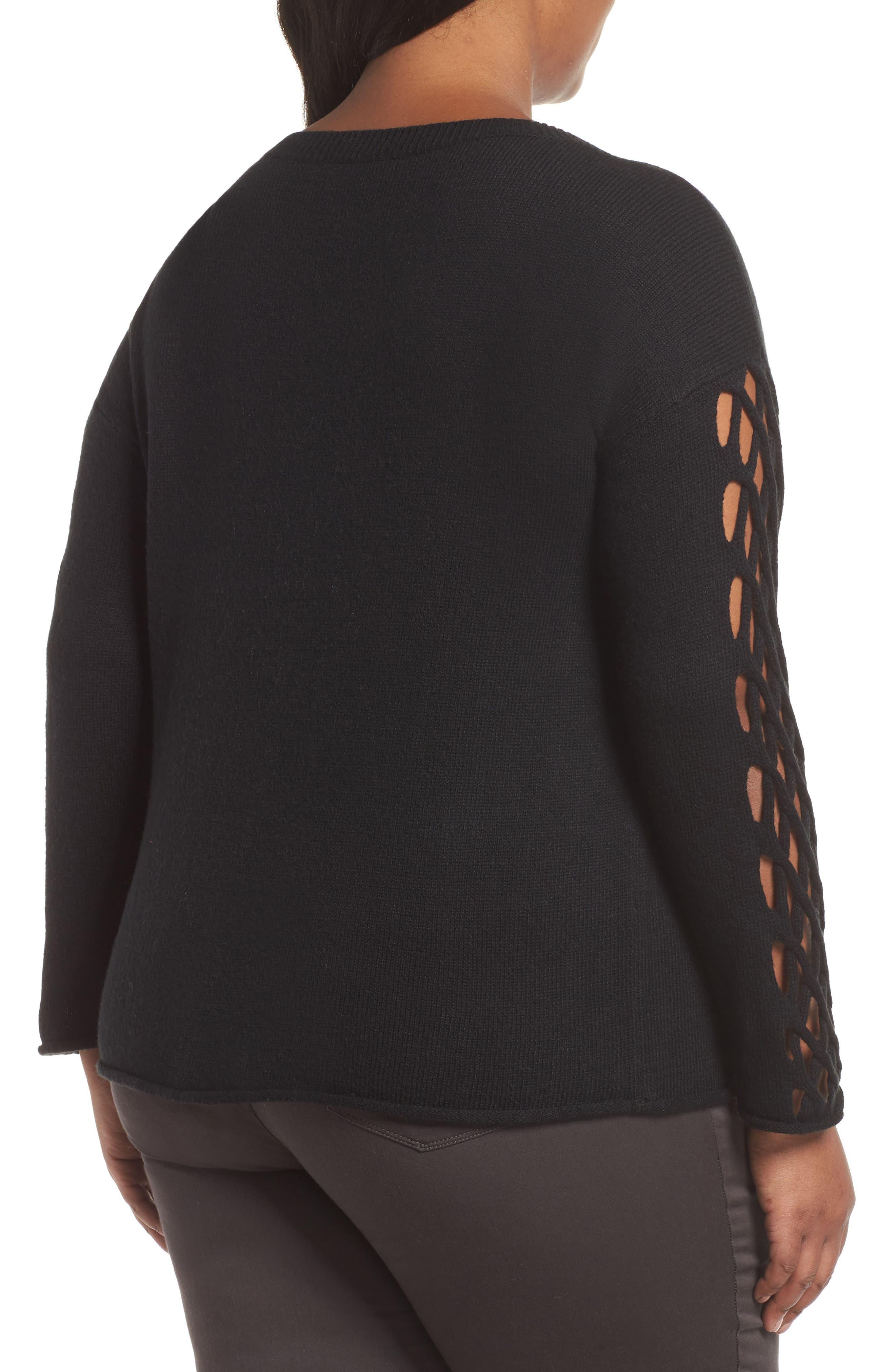 Braided Crewneck Sweater,                             Alternate thumbnail 2, color,                             011