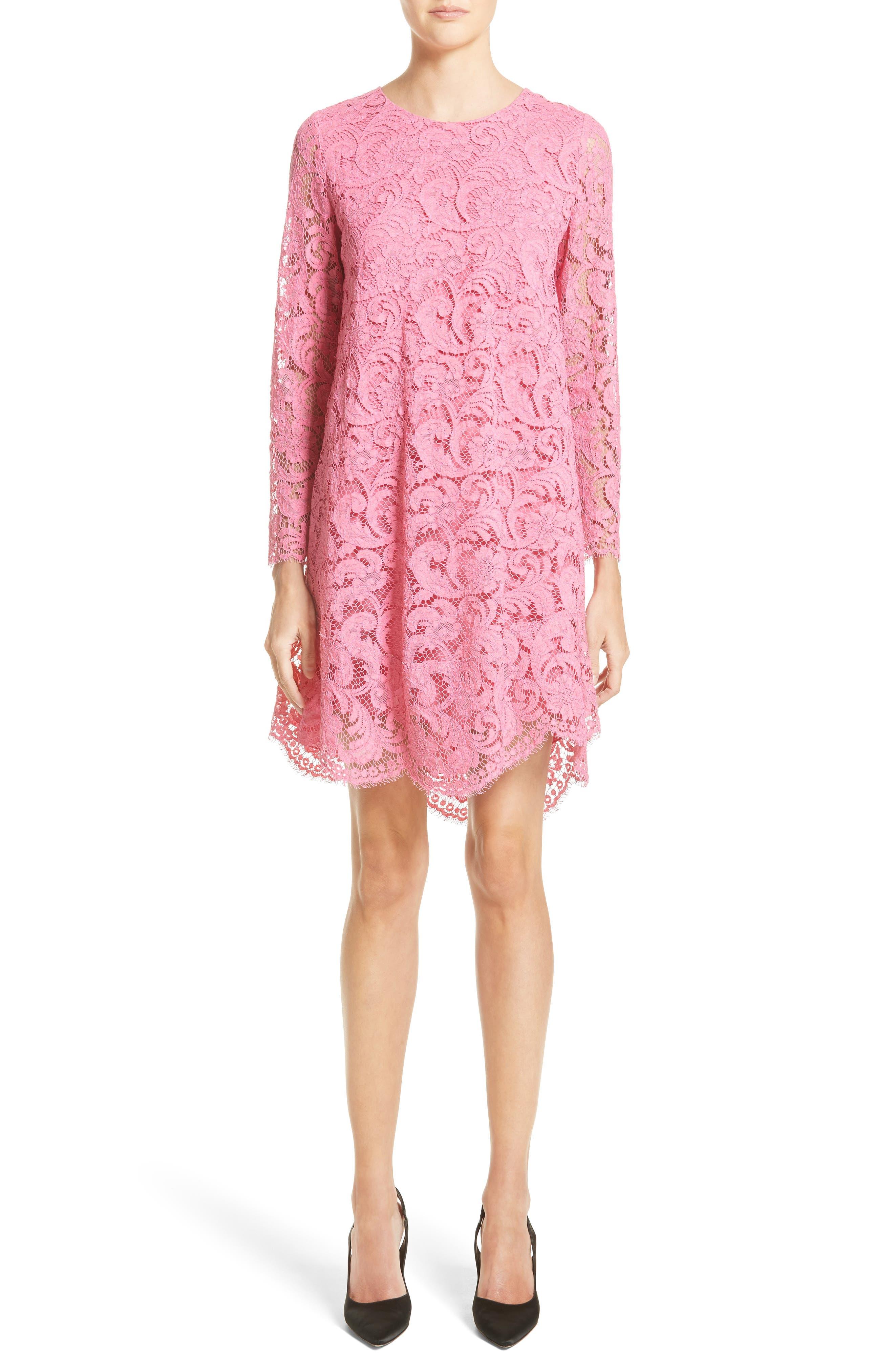 Corded Lace Trapeze Dress,                         Main,                         color, 673
