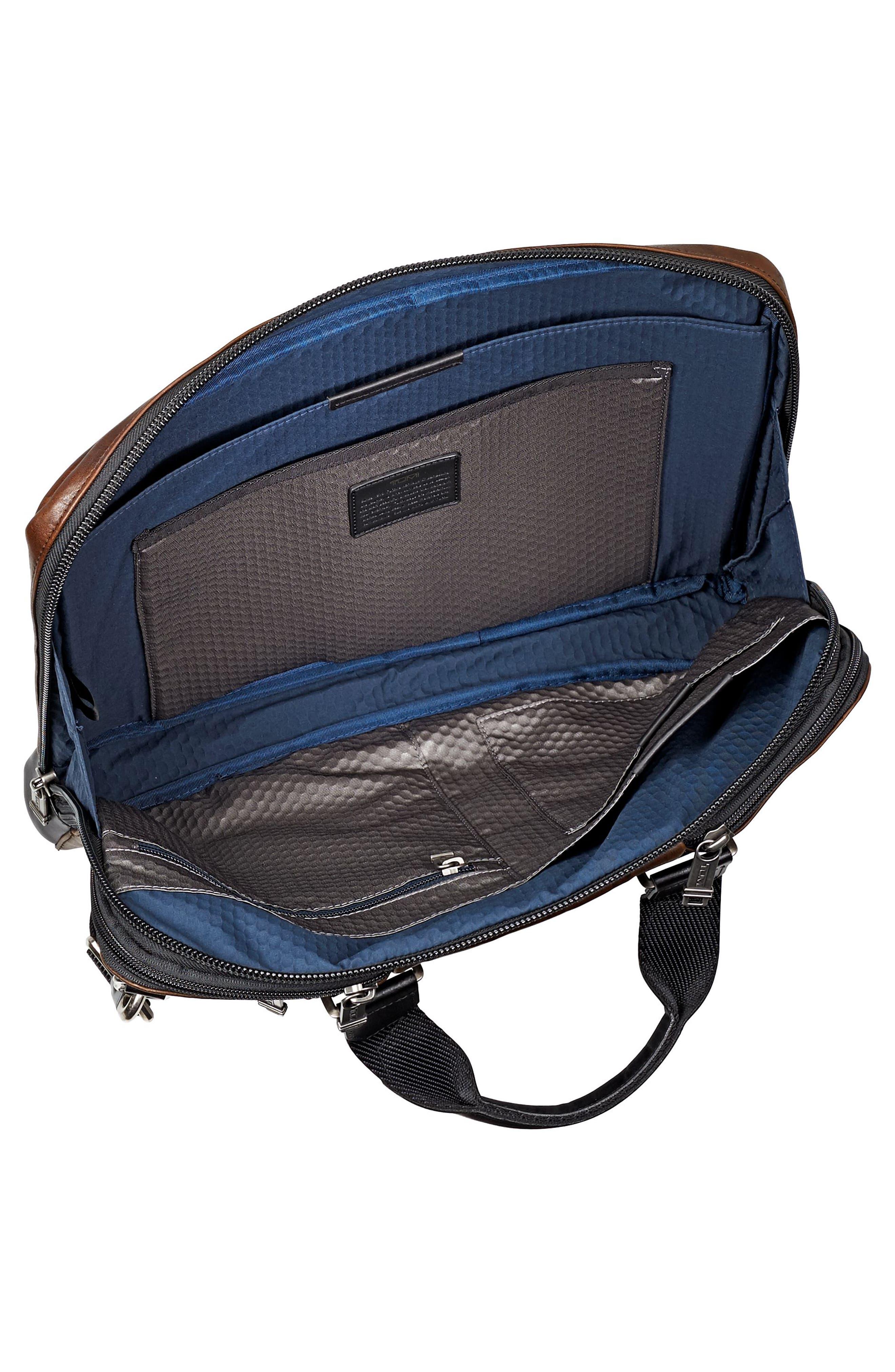 Alpha Bravo - Aviano Leather Briefcase,                             Alternate thumbnail 3, color,