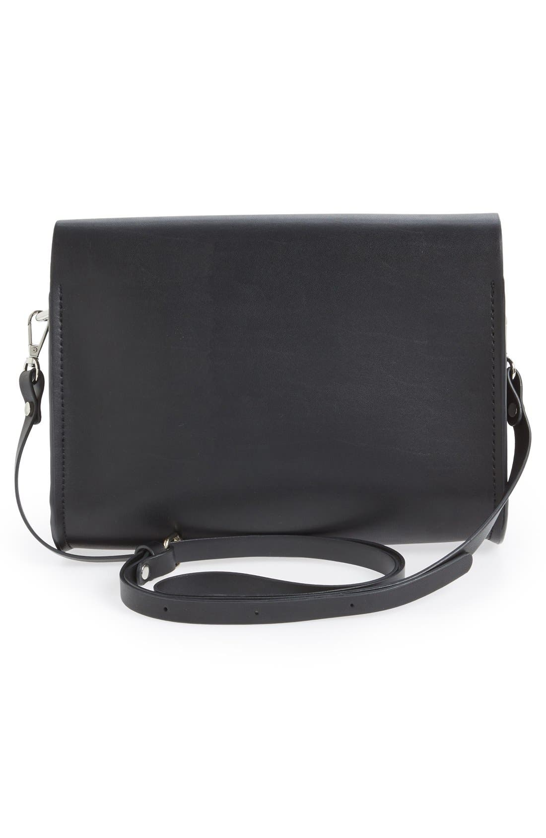 CESCA,                             Faux Leather Crossbody Bag,                             Alternate thumbnail 3, color,                             001