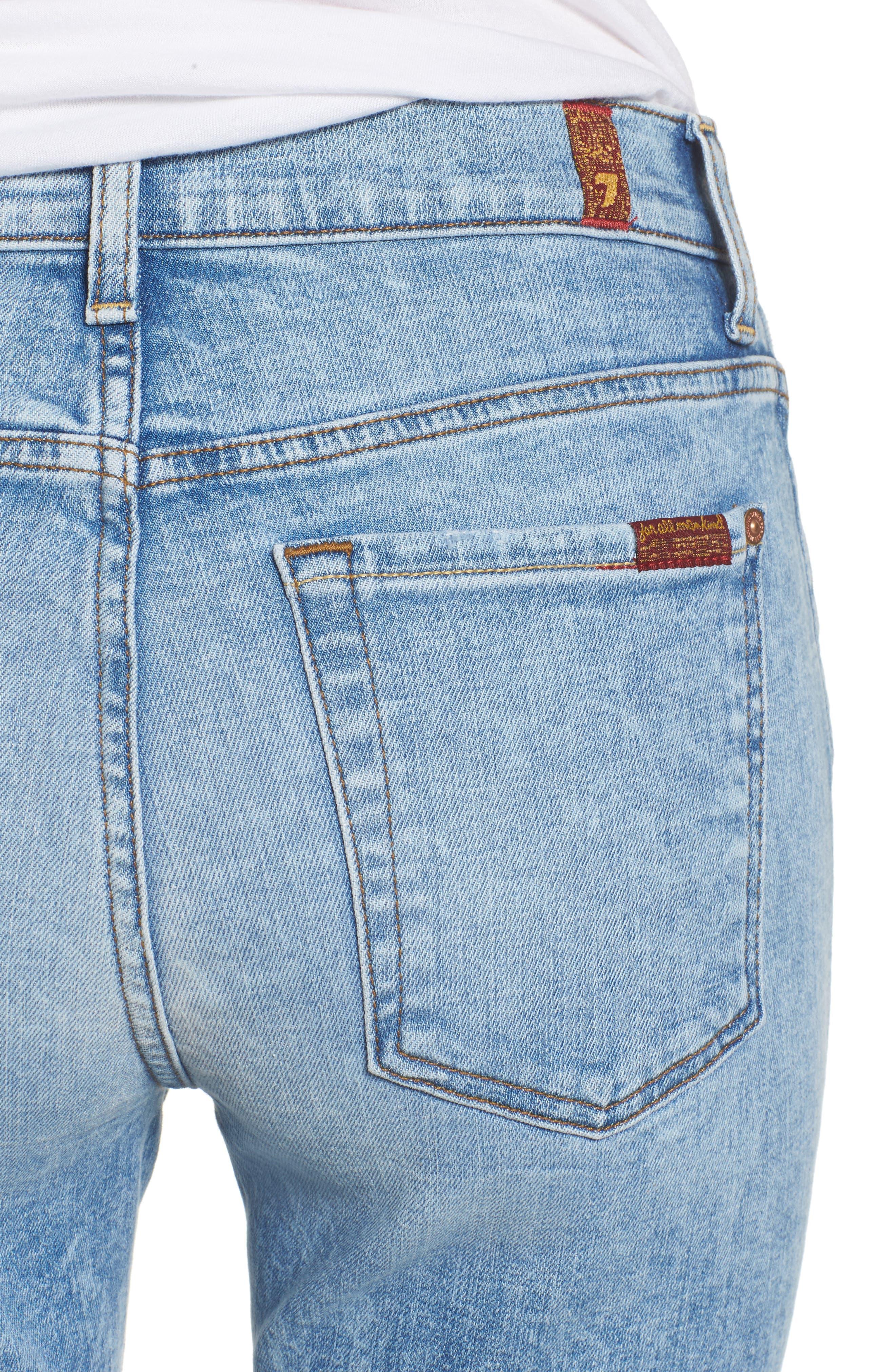 Ali High Waist Crop Flare Leg Jeans,                             Alternate thumbnail 4, color,                             400