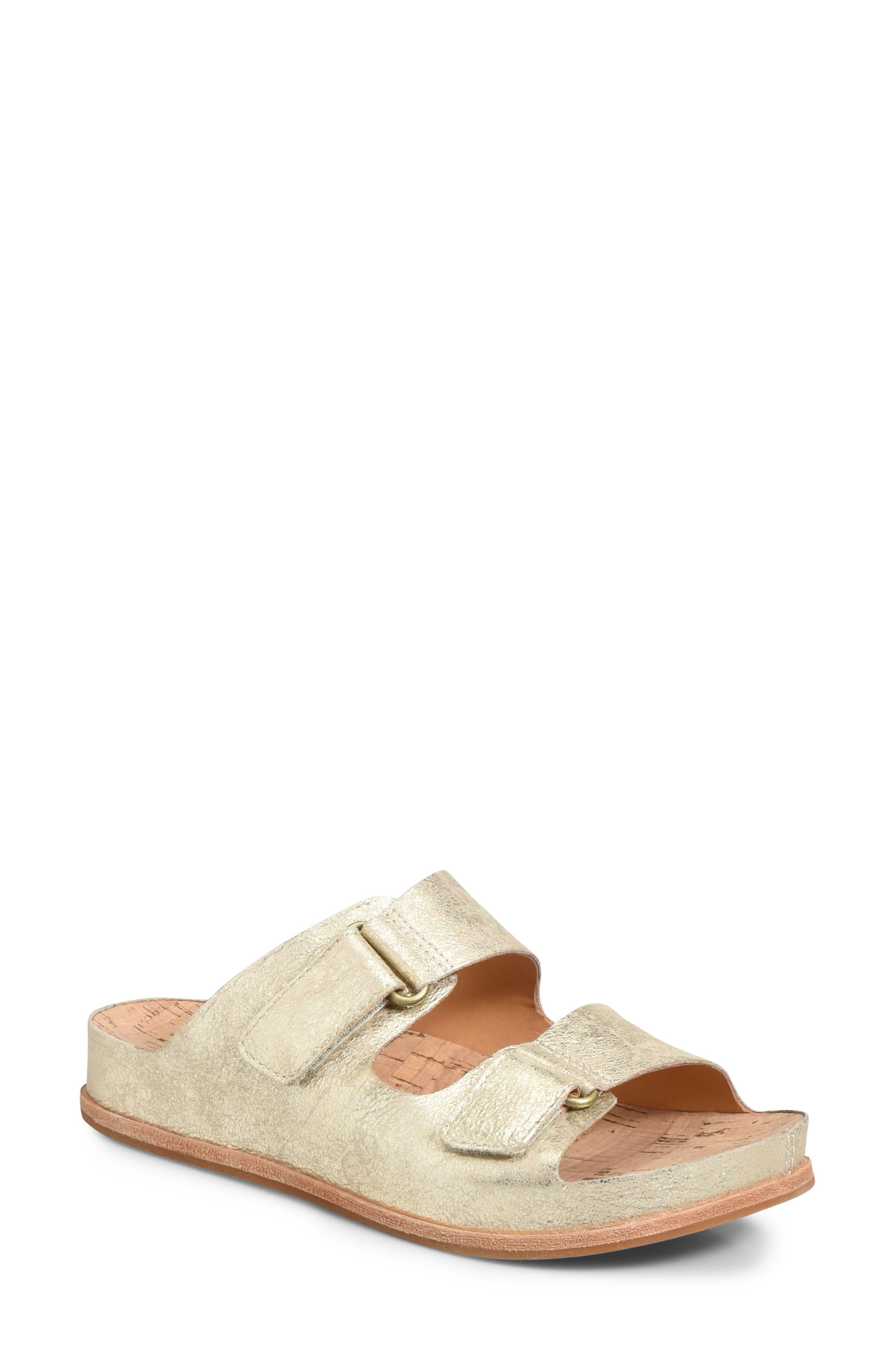 Kork-Ease Torreya Slide Sandal, Metallic