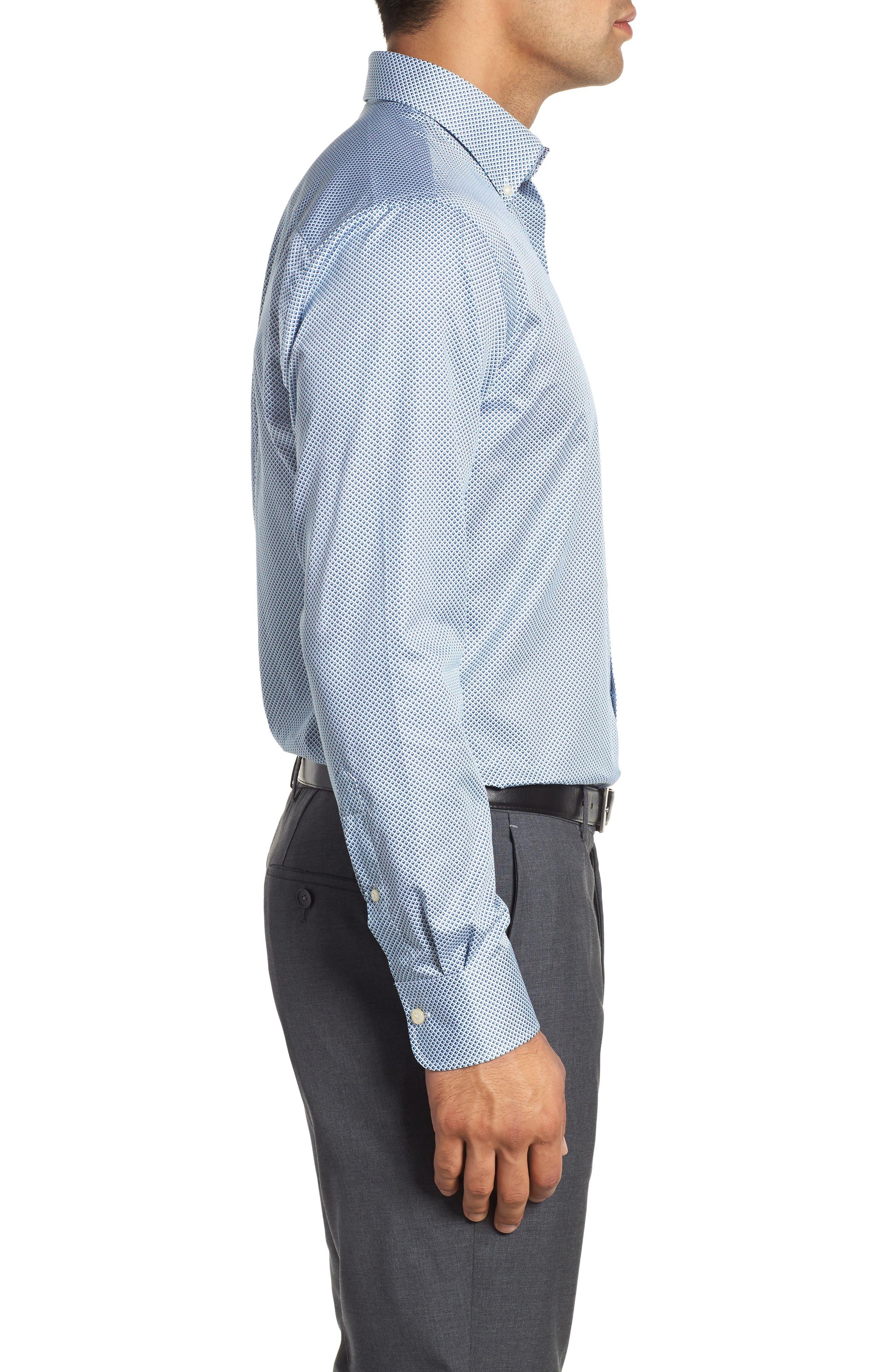 Diamond in the Rough Regular Fit Sport Shirt,                             Alternate thumbnail 4, color,                             NAVY