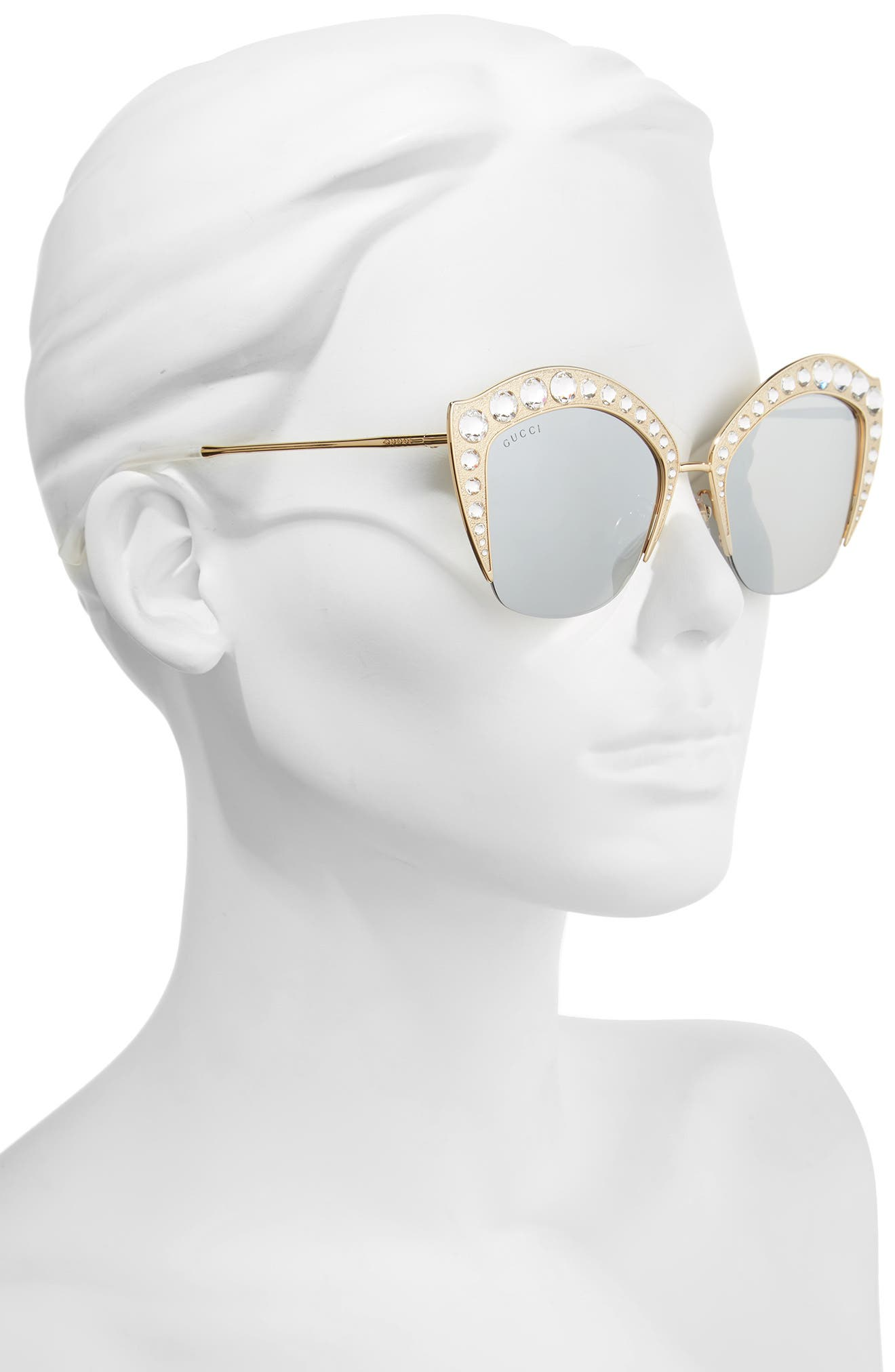 53mm Embellished Cat Eye Sunglasses,                             Alternate thumbnail 4, color,