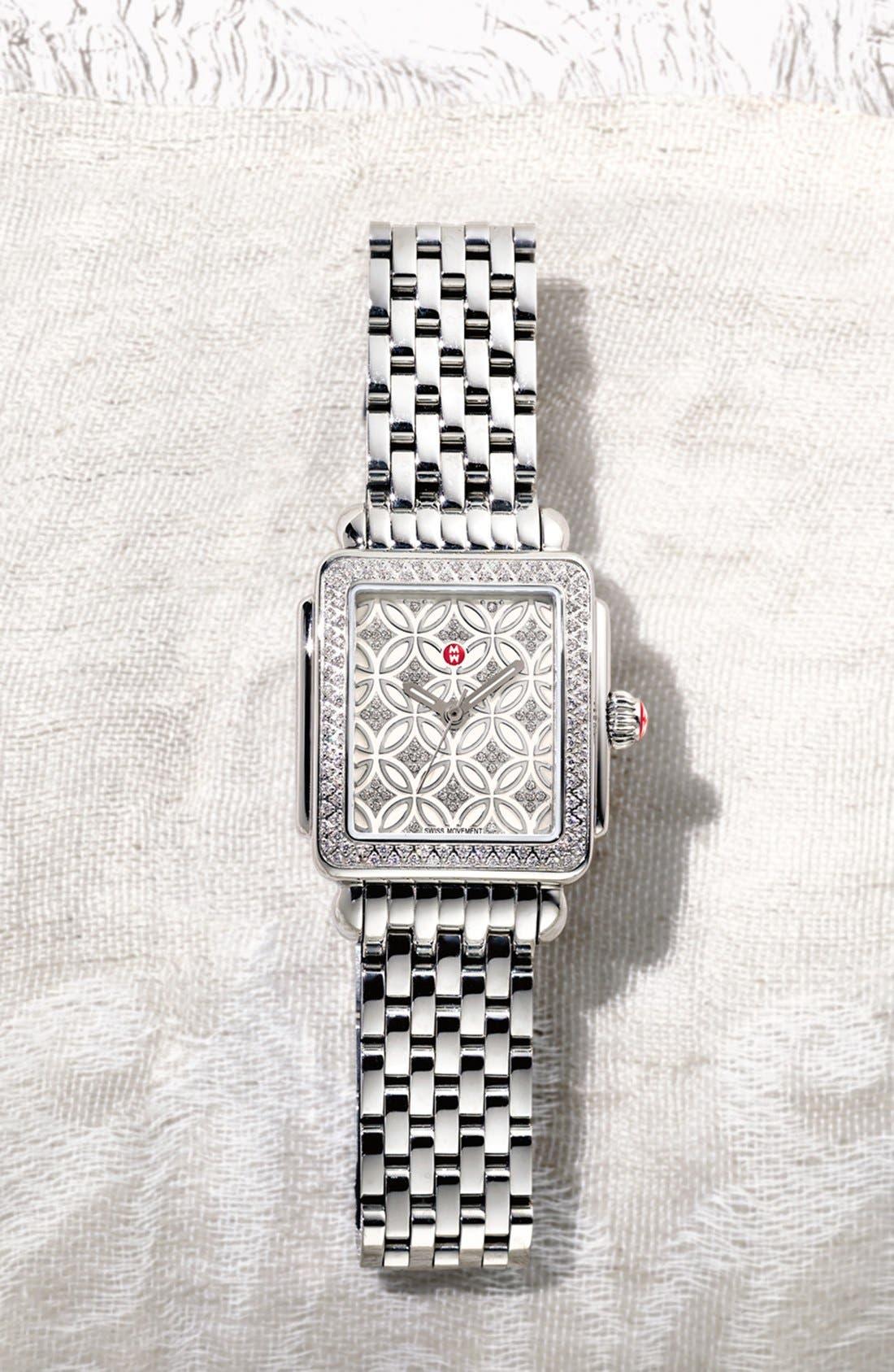 Deco 16 16mm Bracelet Watchband,                             Alternate thumbnail 5, color,                             SILVER