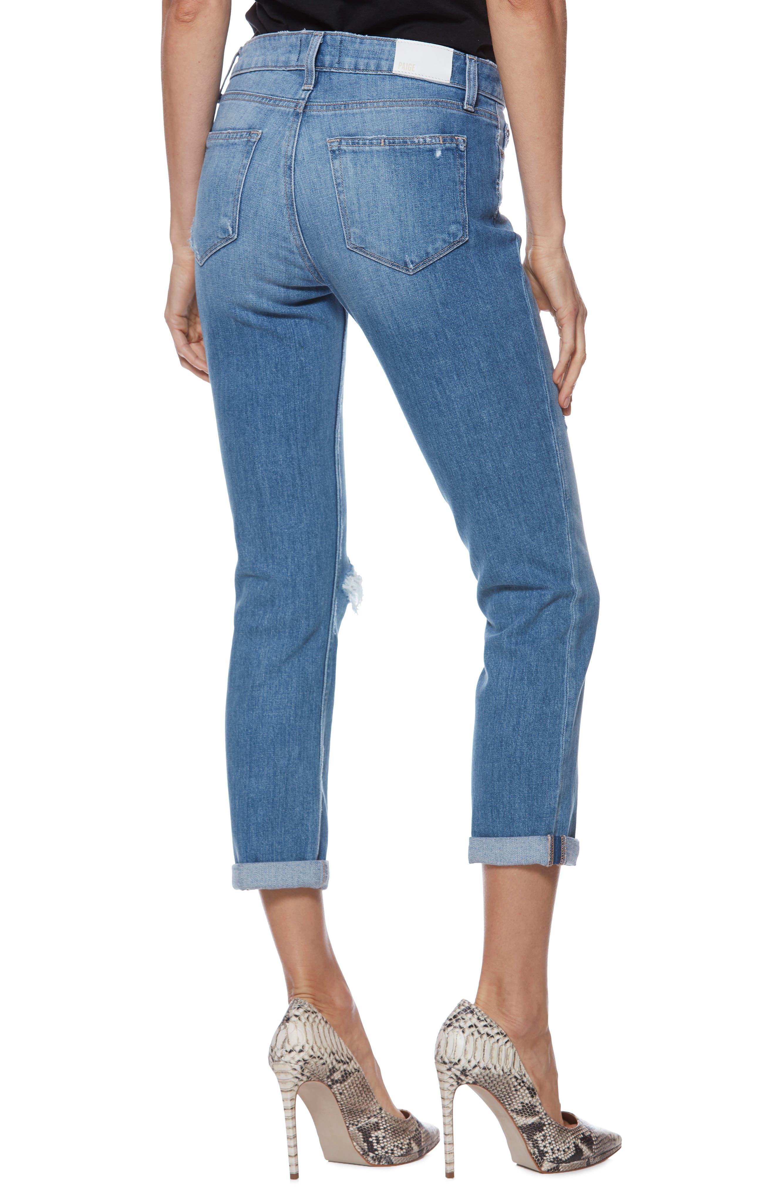 Brigitte Ripped Crop Boyfriend Jeans,                             Alternate thumbnail 2, color,                             BROOKVIEW DESTRUCTED