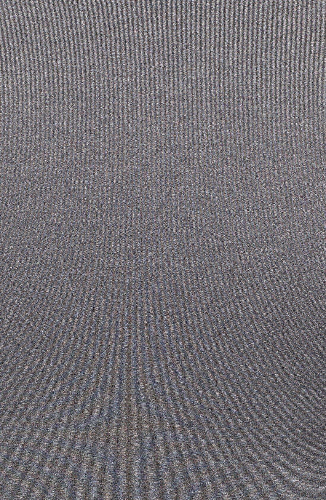 HeatGear<sup>®</sup> Compression Fit T-Shirt,                             Alternate thumbnail 9, color,                             CARBON HEATHER/ BLACK