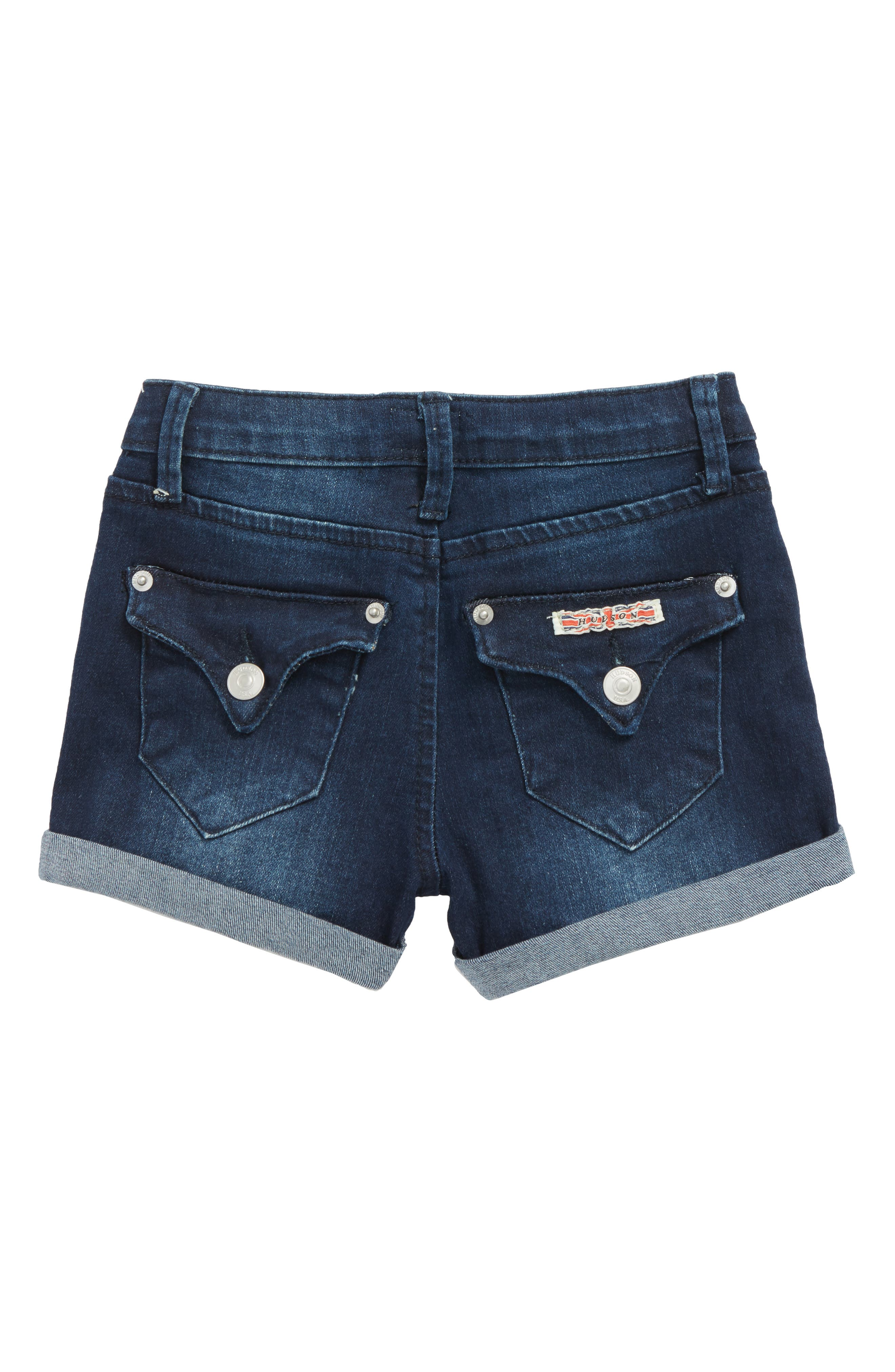 Roll Cuff Denim Shorts,                             Alternate thumbnail 2, color,                             427