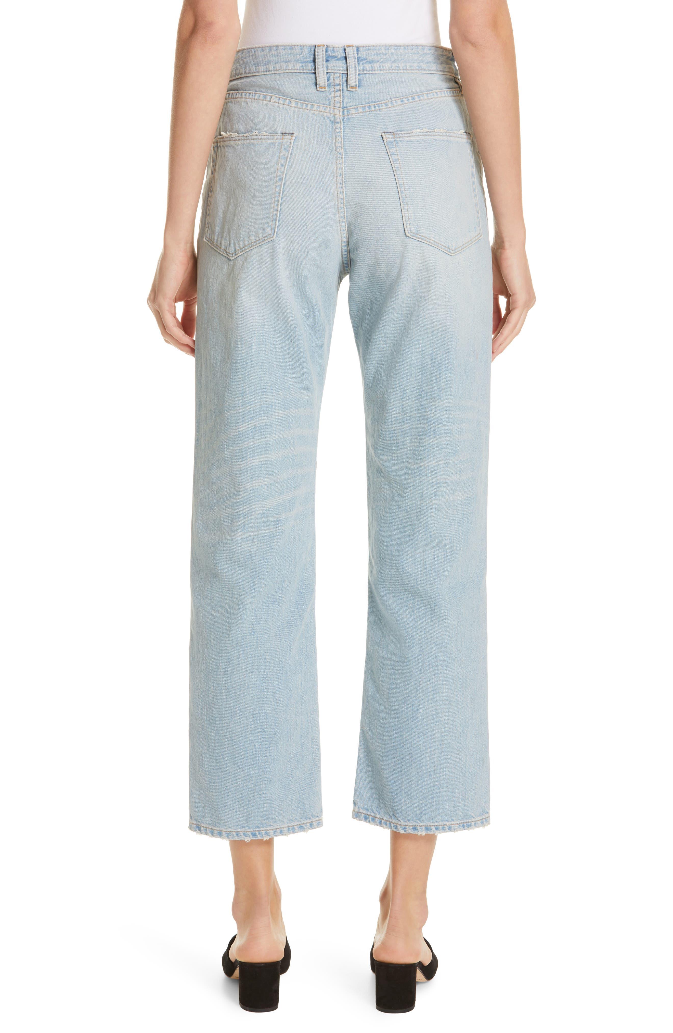 High Waist Crop Jeans,                             Alternate thumbnail 2, color,                             VINTAGE WASH 6