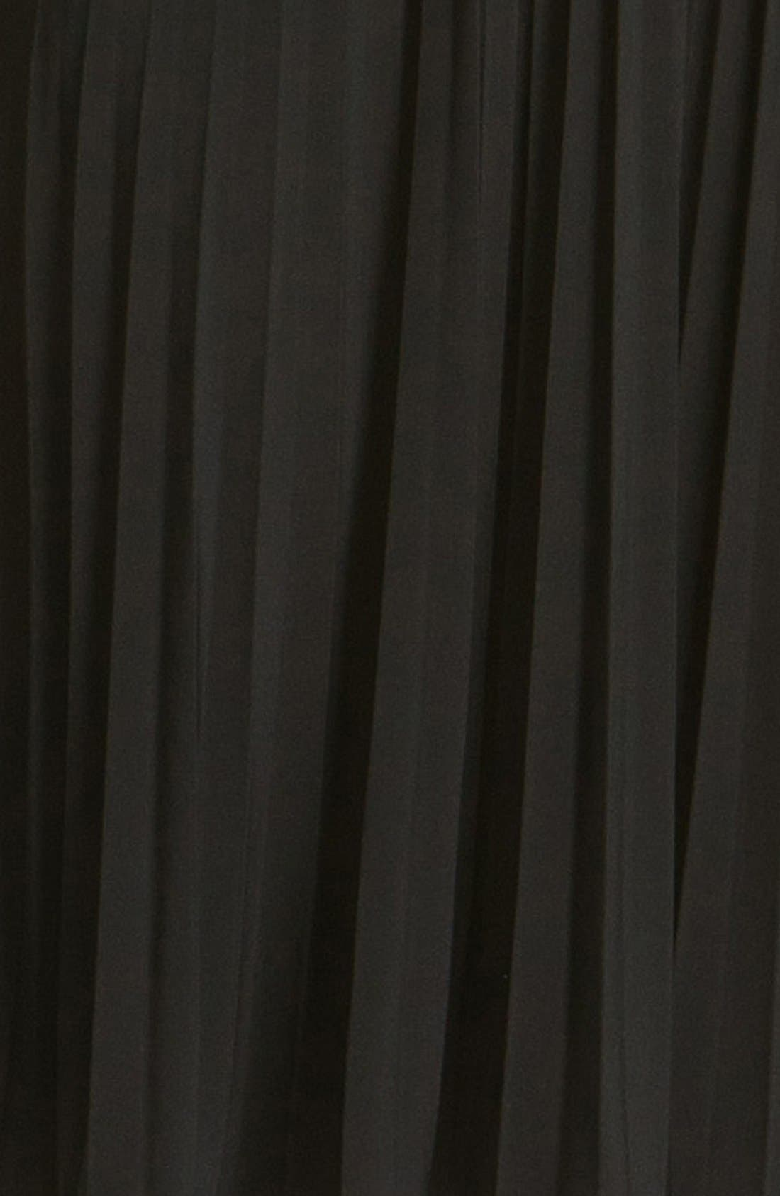 'Sunburst' Pleated Jersey Fit & Flare Dress,                             Alternate thumbnail 4, color,                             001