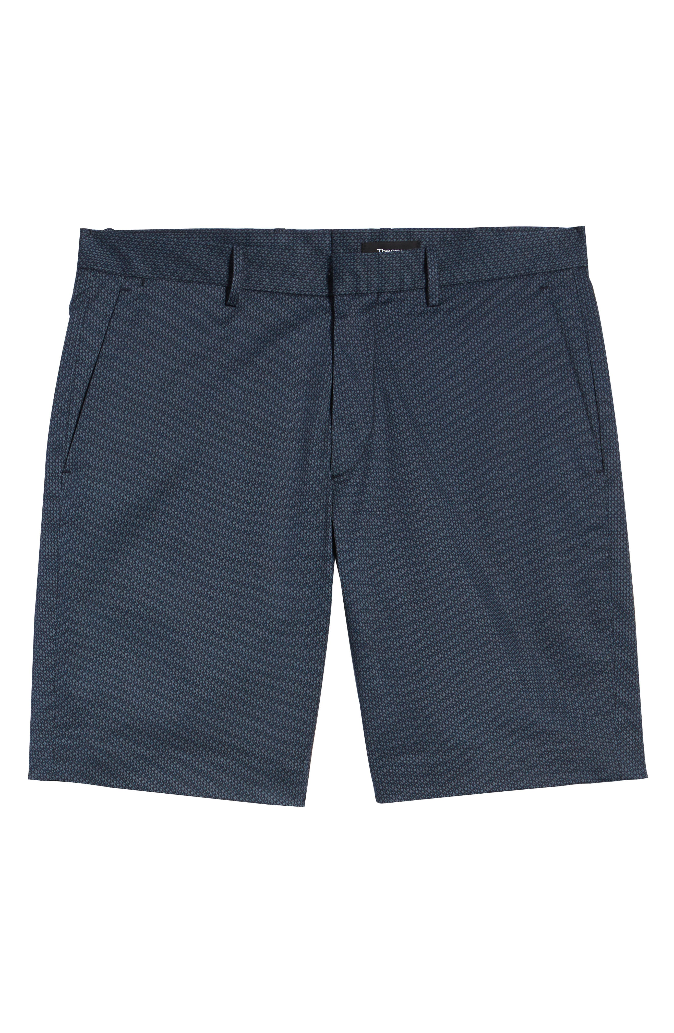 Zaine Stretch Cotton Shorts,                             Alternate thumbnail 6, color,                             ECLIPSE MULTI