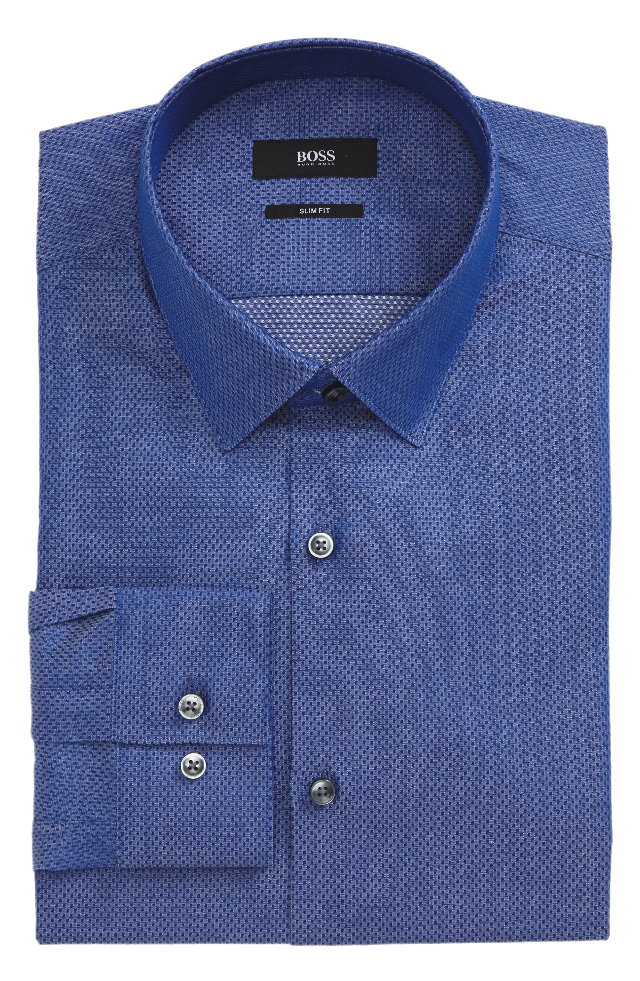 Isko Slim Fit Textured Dress Shirt,                         Main,                         color, 421