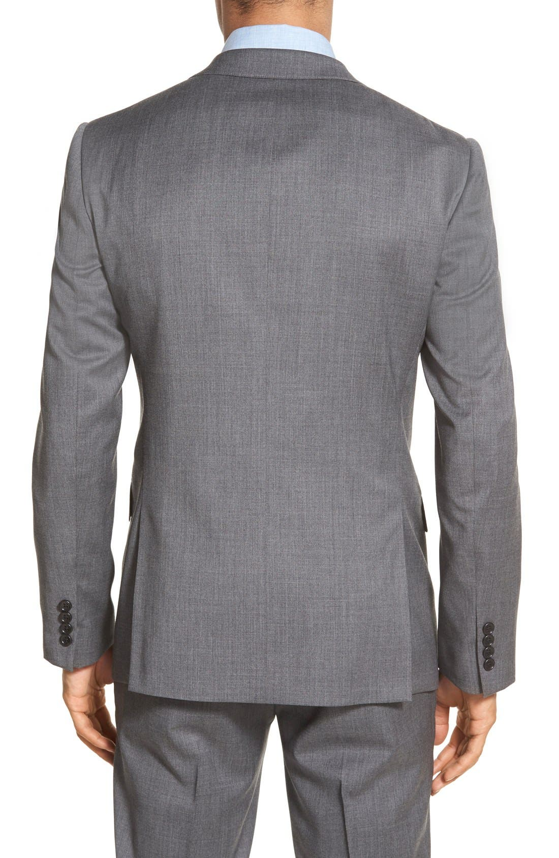 Trim Fit Solid Stretch Wool Sport Coat,                             Alternate thumbnail 2, color,