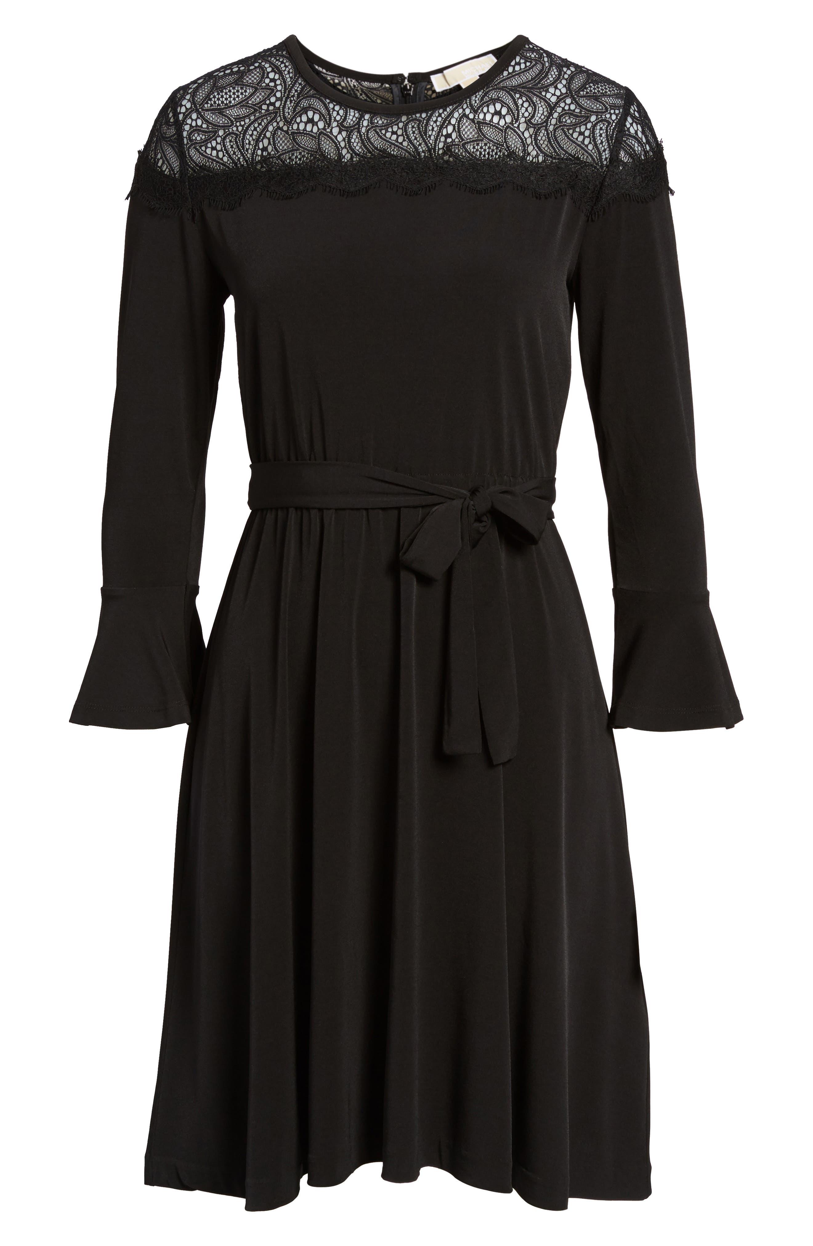 Flounce Sleeve Lace Dress,                             Alternate thumbnail 6, color,