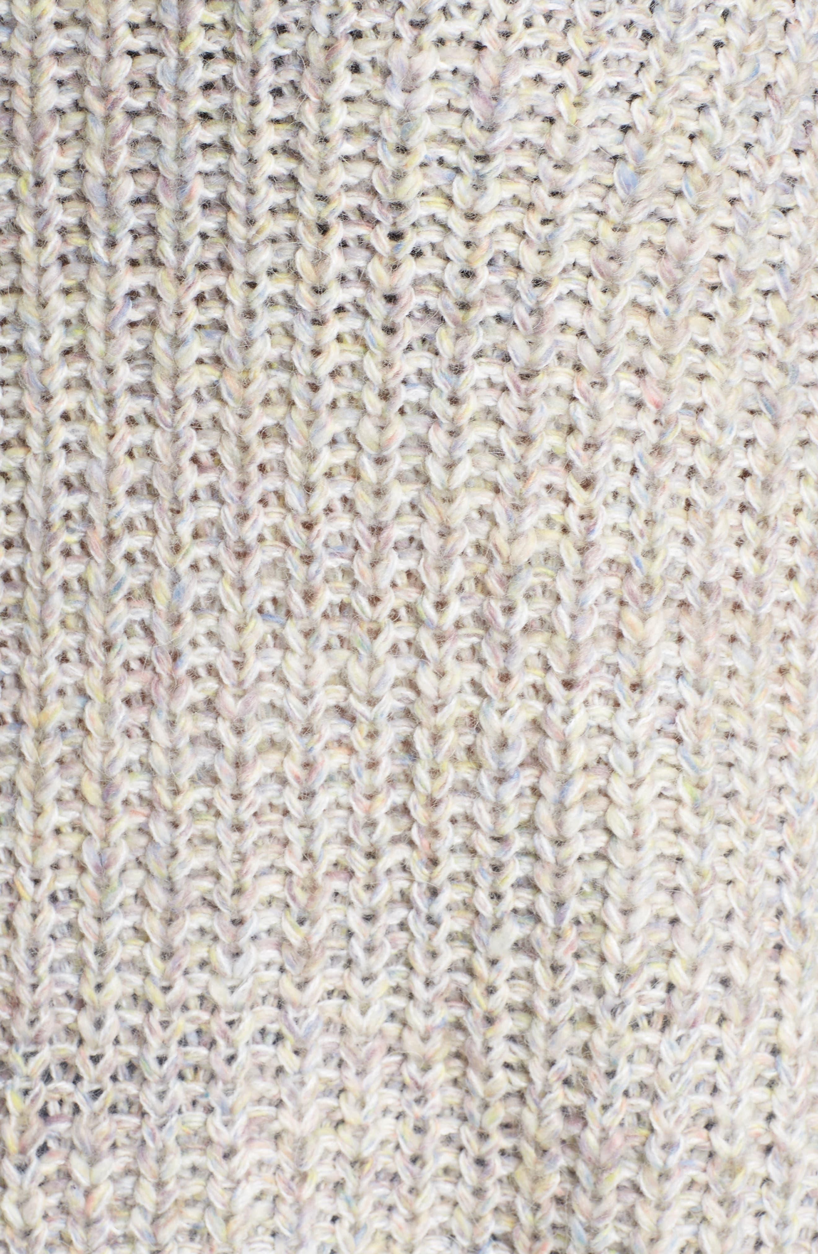 Boat Neck Sweater,                             Alternate thumbnail 5, color,                             BEIGE POPCORN PATTERN