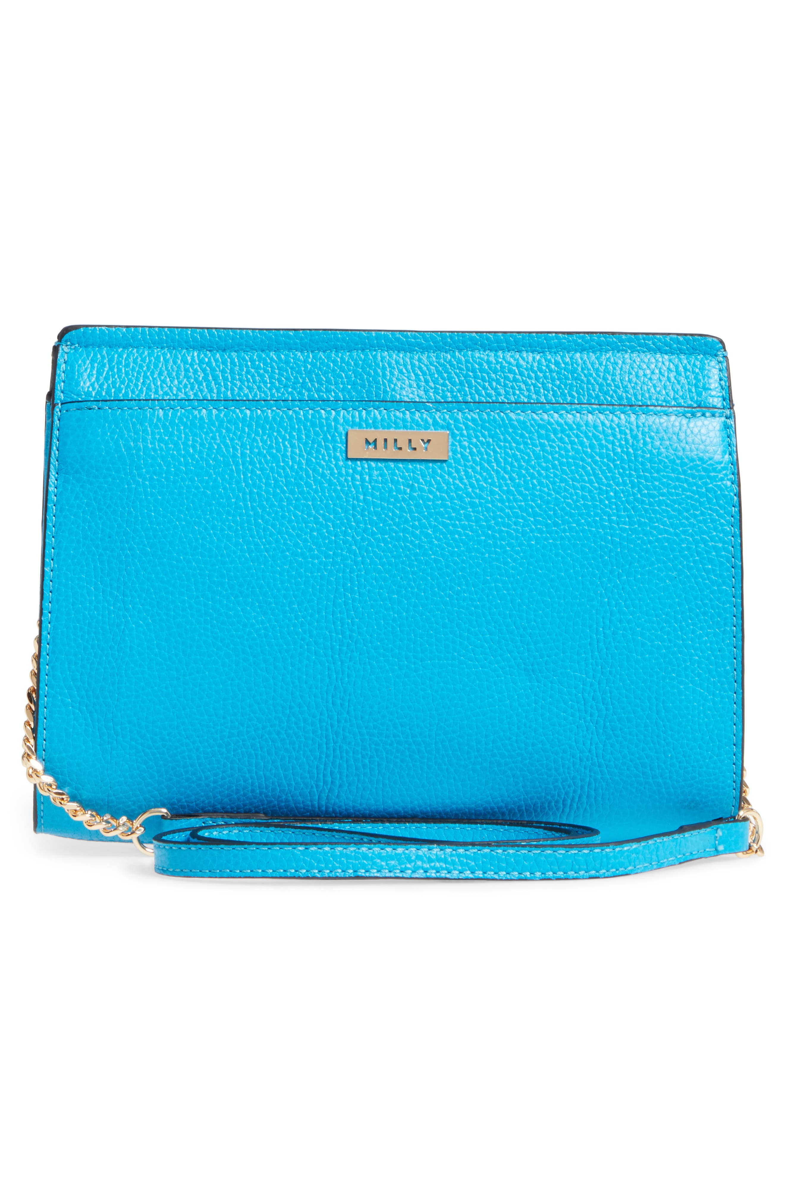 Astor Pebbled Leather Flap Clutch,                             Alternate thumbnail 11, color,
