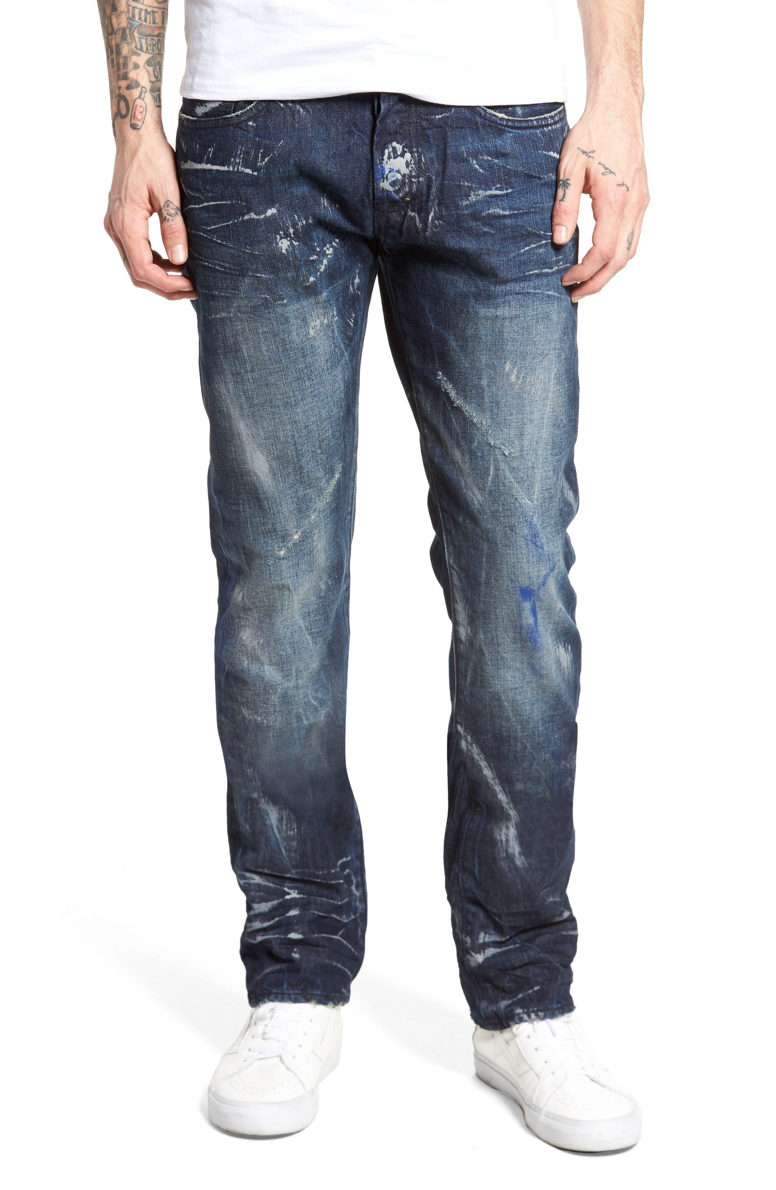 Slim Straight Leg Jeans,                             Main thumbnail 1, color,                             490
