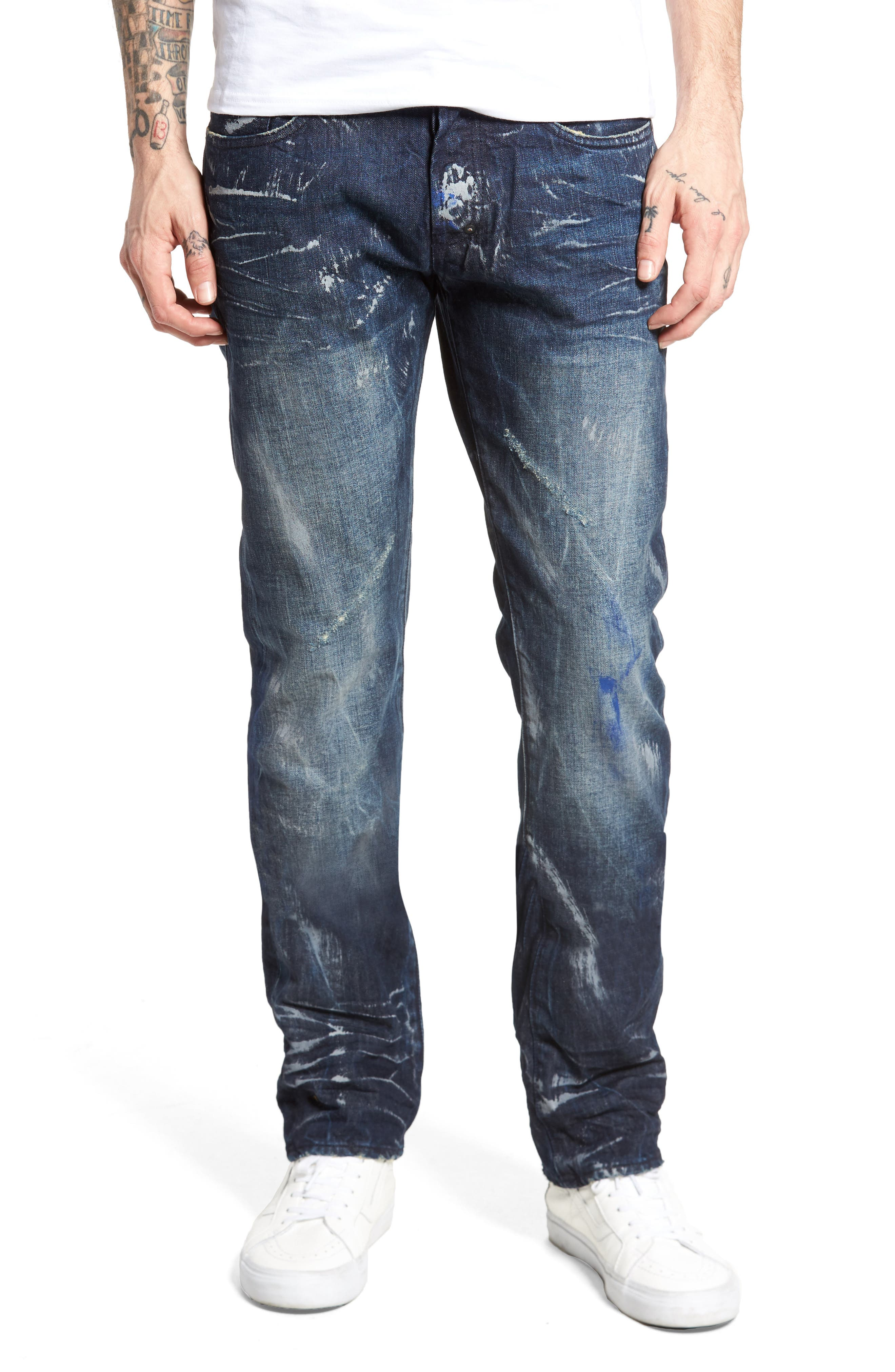 Slim Straight Leg Jeans,                         Main,                         color, 490