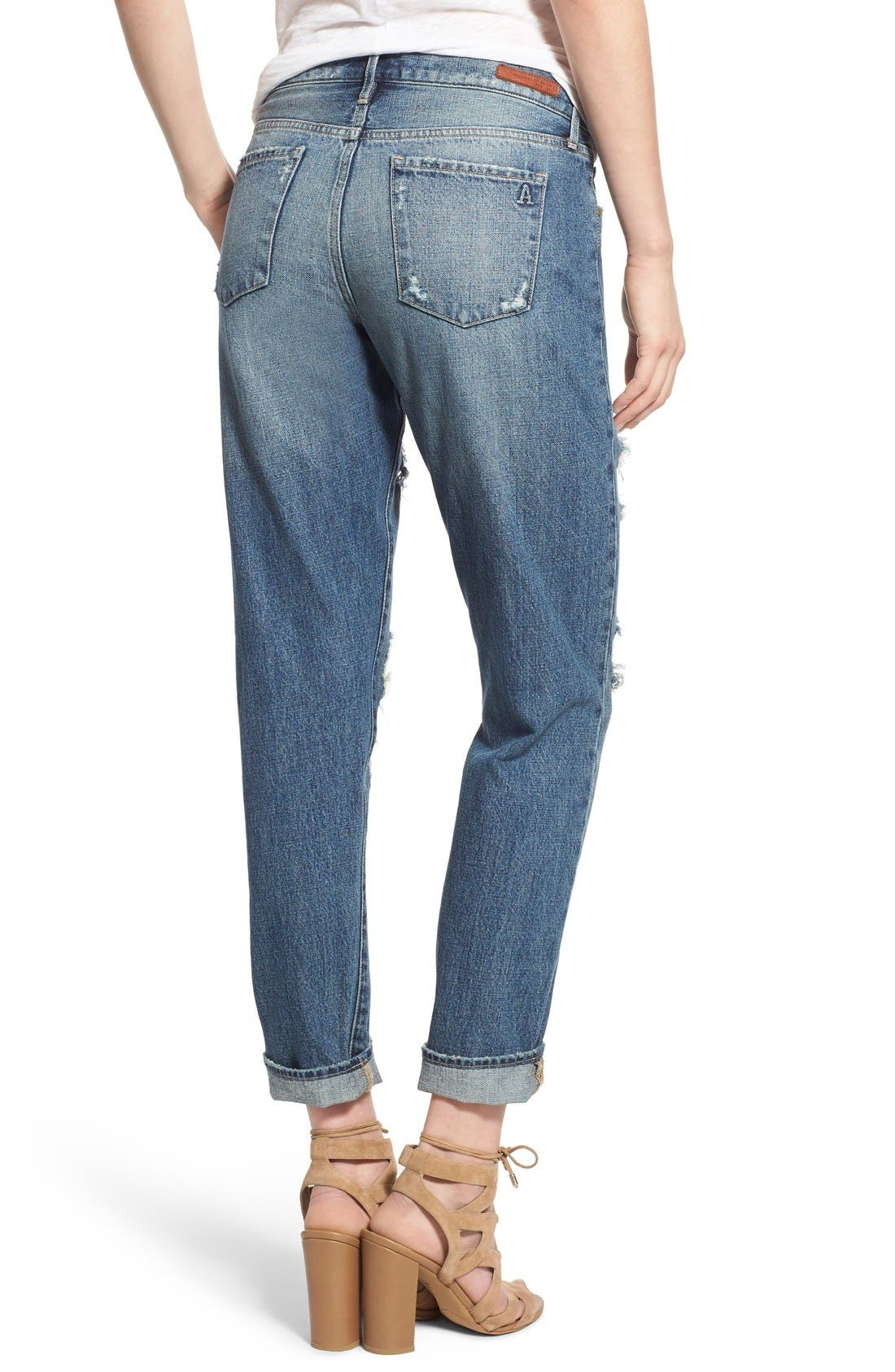 ARTICLES OF SOCIETY,                             'Janis' Destroyed Boyfriend Jeans,                             Alternate thumbnail 2, color,                             408