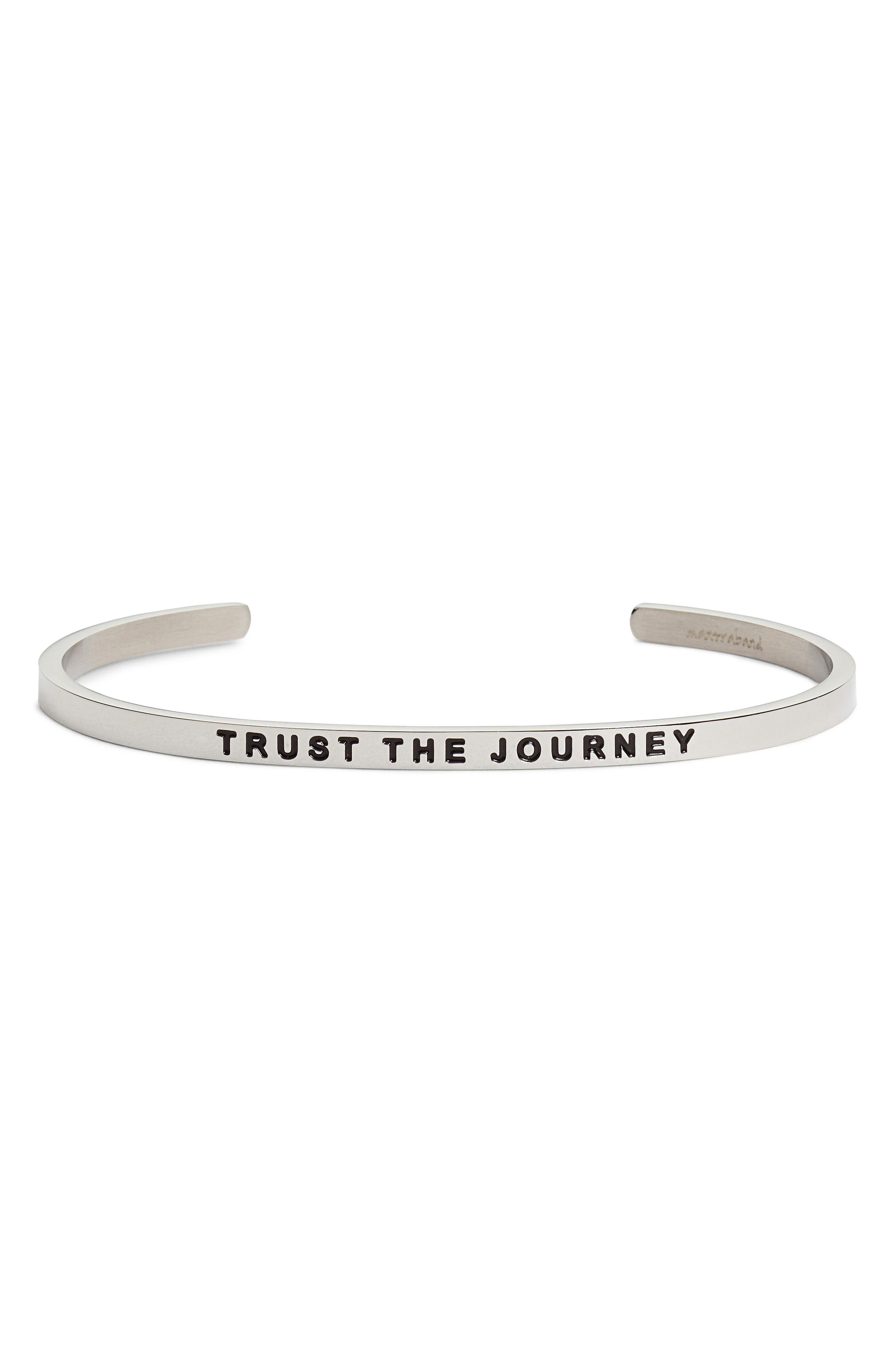 Trust the Journey Cuff,                             Main thumbnail 1, color,