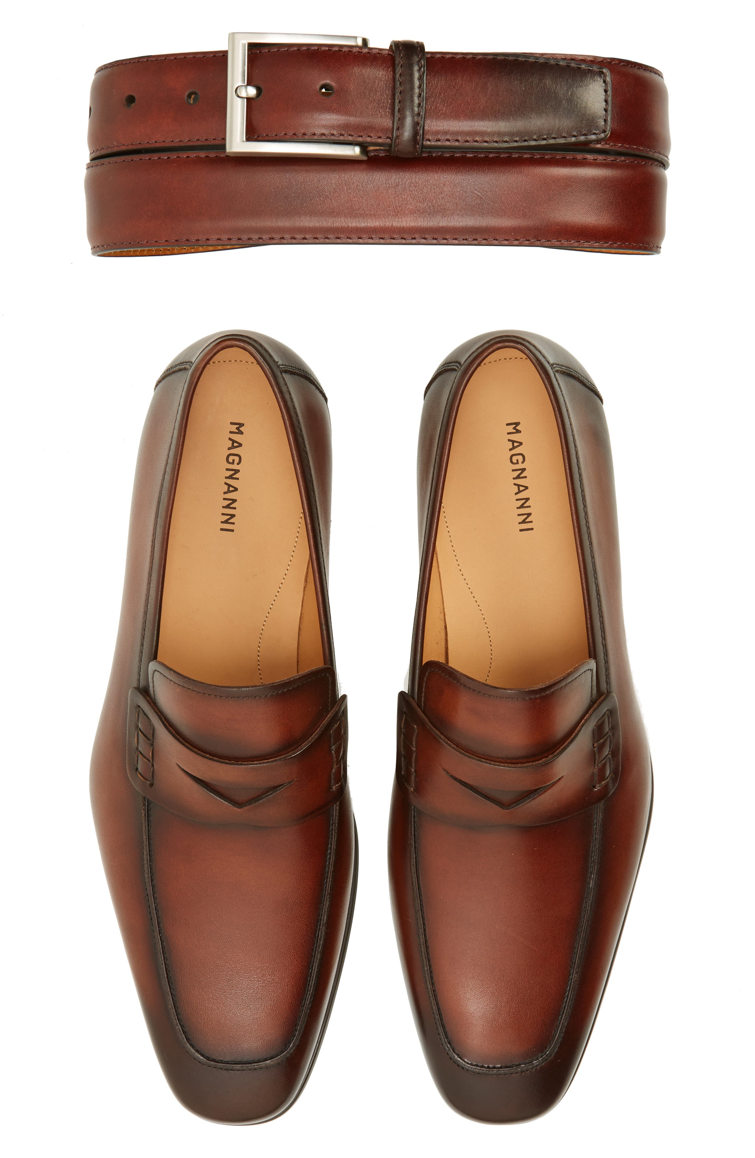 'Ramiro II' Penny Loafer,                             Alternate thumbnail 2, color,                             MID BROWN LEATHER