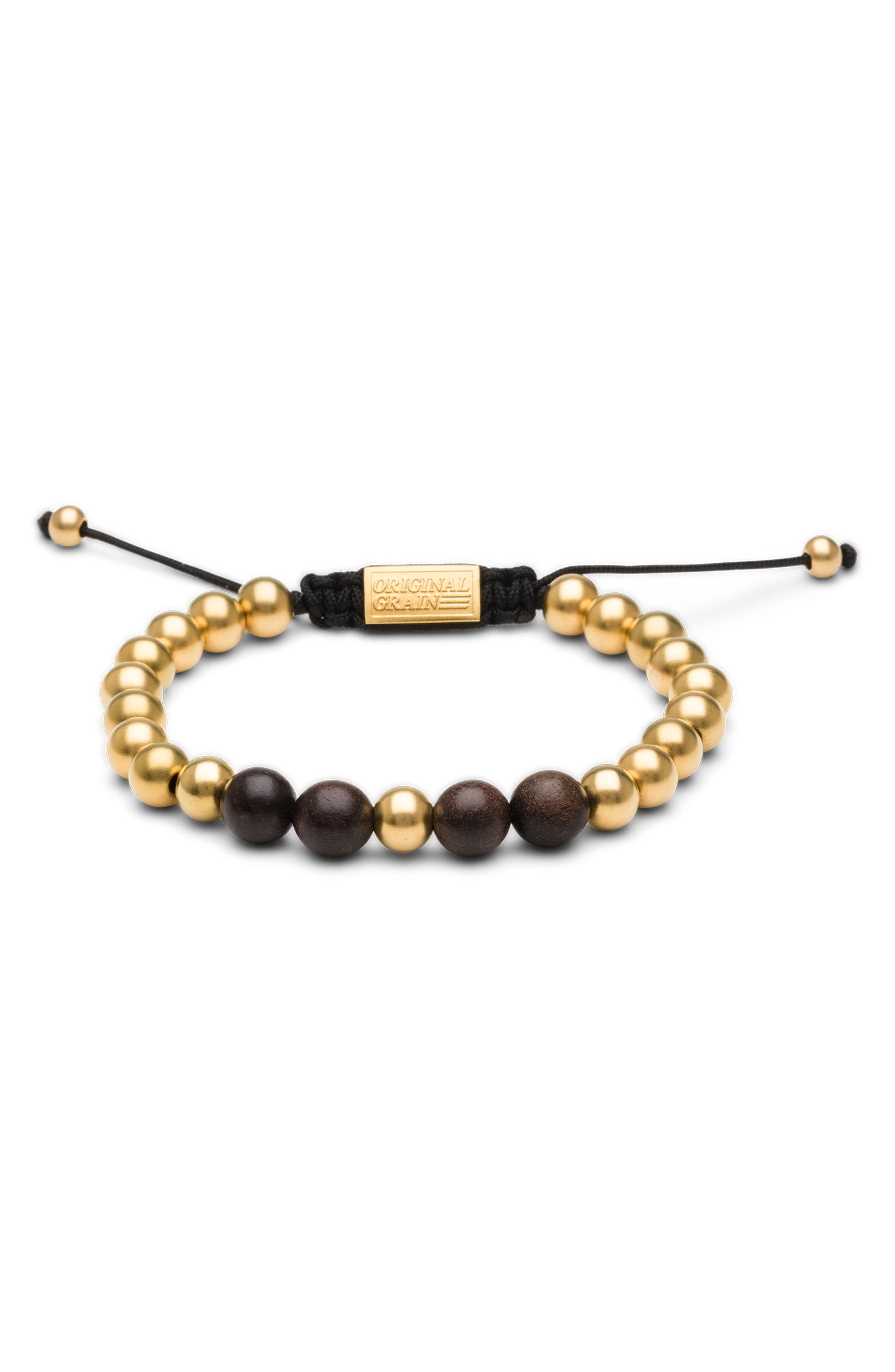 Bead Bracelet,                         Main,                         color, EBONY GOLD