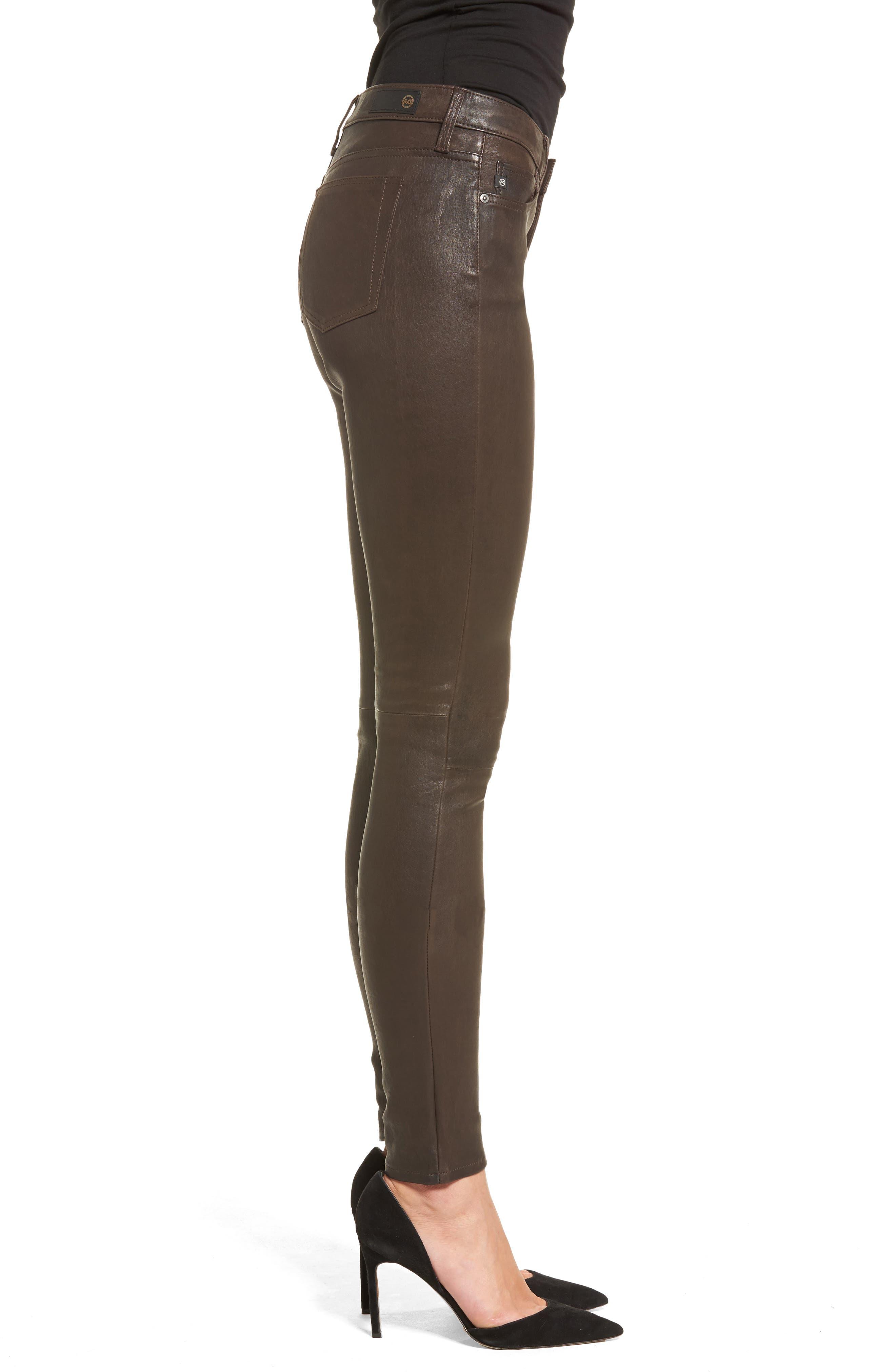 AG,                             The Legging Super Skinny Leather Pants,                             Alternate thumbnail 3, color,                             248