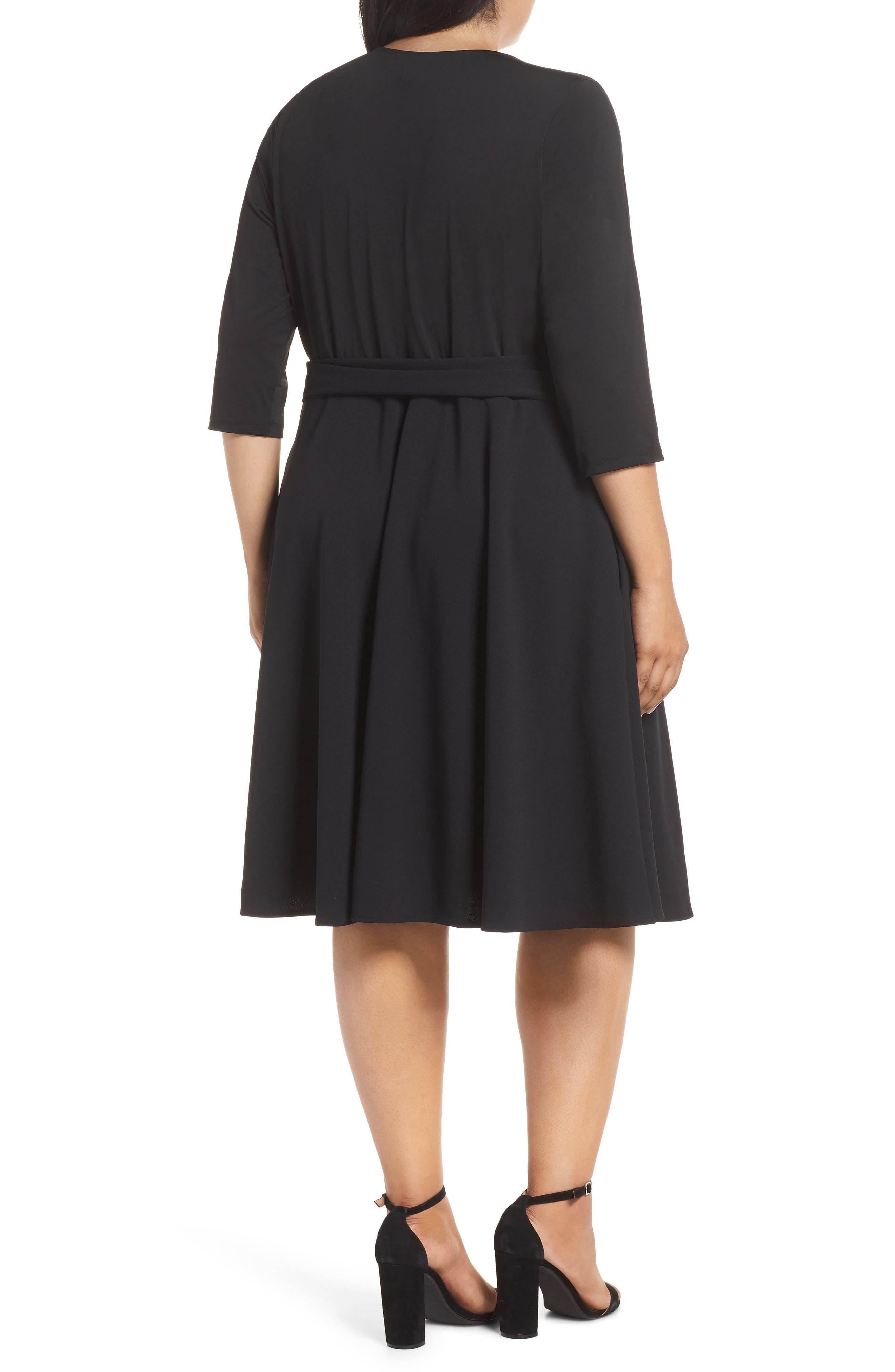 ECI,                             Wrap Dress,                             Alternate thumbnail 2, color,                             001